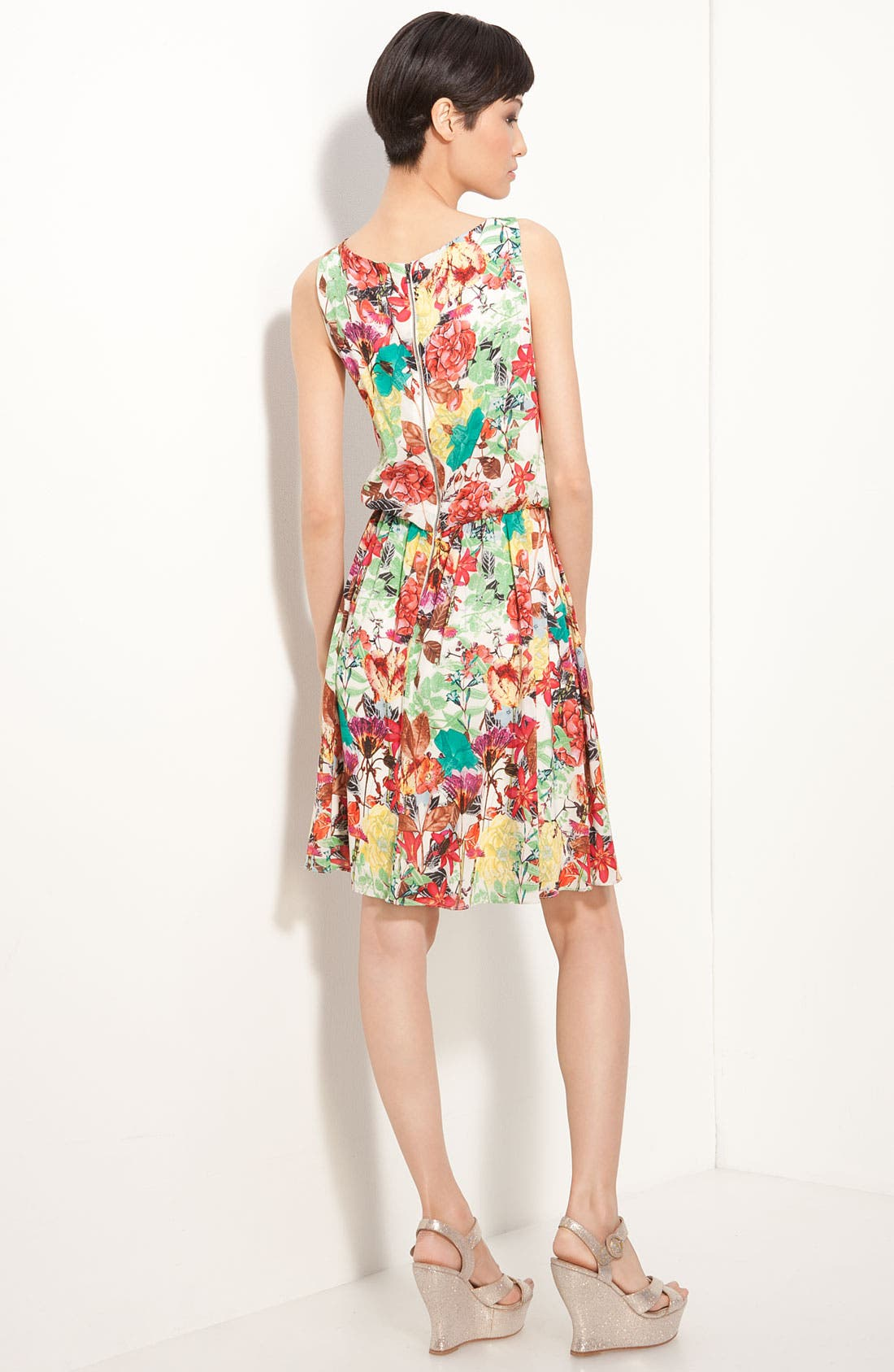 Alternate Image 2  - Alice + Olivia 'Alina' Floral Print Dress