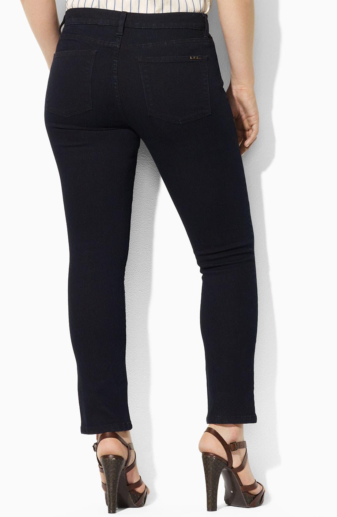 Alternate Image 2  - Lauren Ralph Lauren Straight Leg Ankle Pants (Plus)