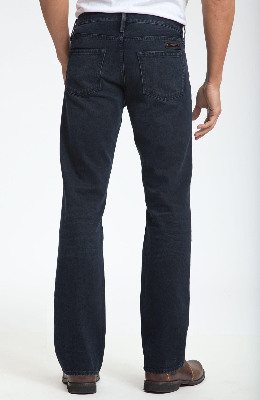 Alternate Image 2  - Burberry Brit Straight Leg Jeans (Supersoft Black)