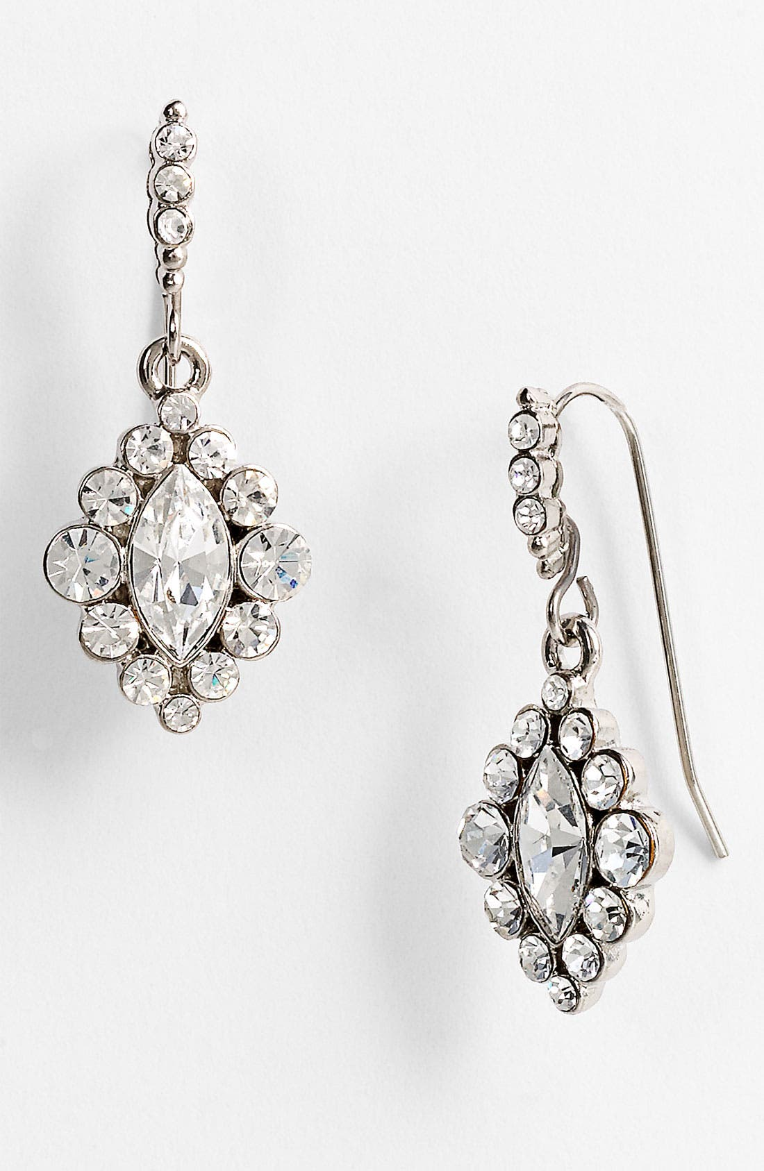 Alternate Image 1 Selected - Nina 'Romy' Diamond Shape Drop Earrings