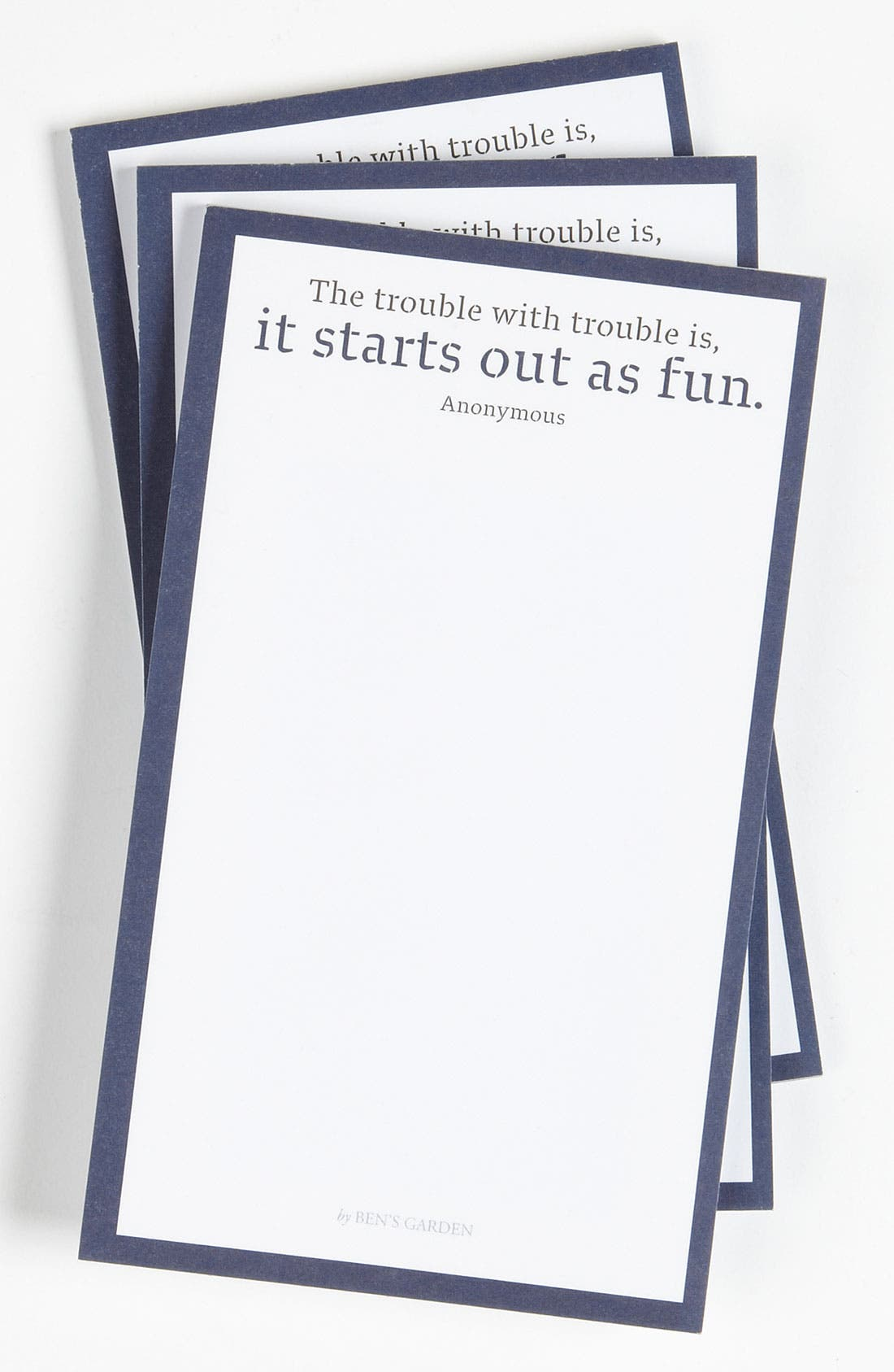 Alternate Image 1 Selected - Ben's Garden 'The Trouble With' Notepads (3-Pack)
