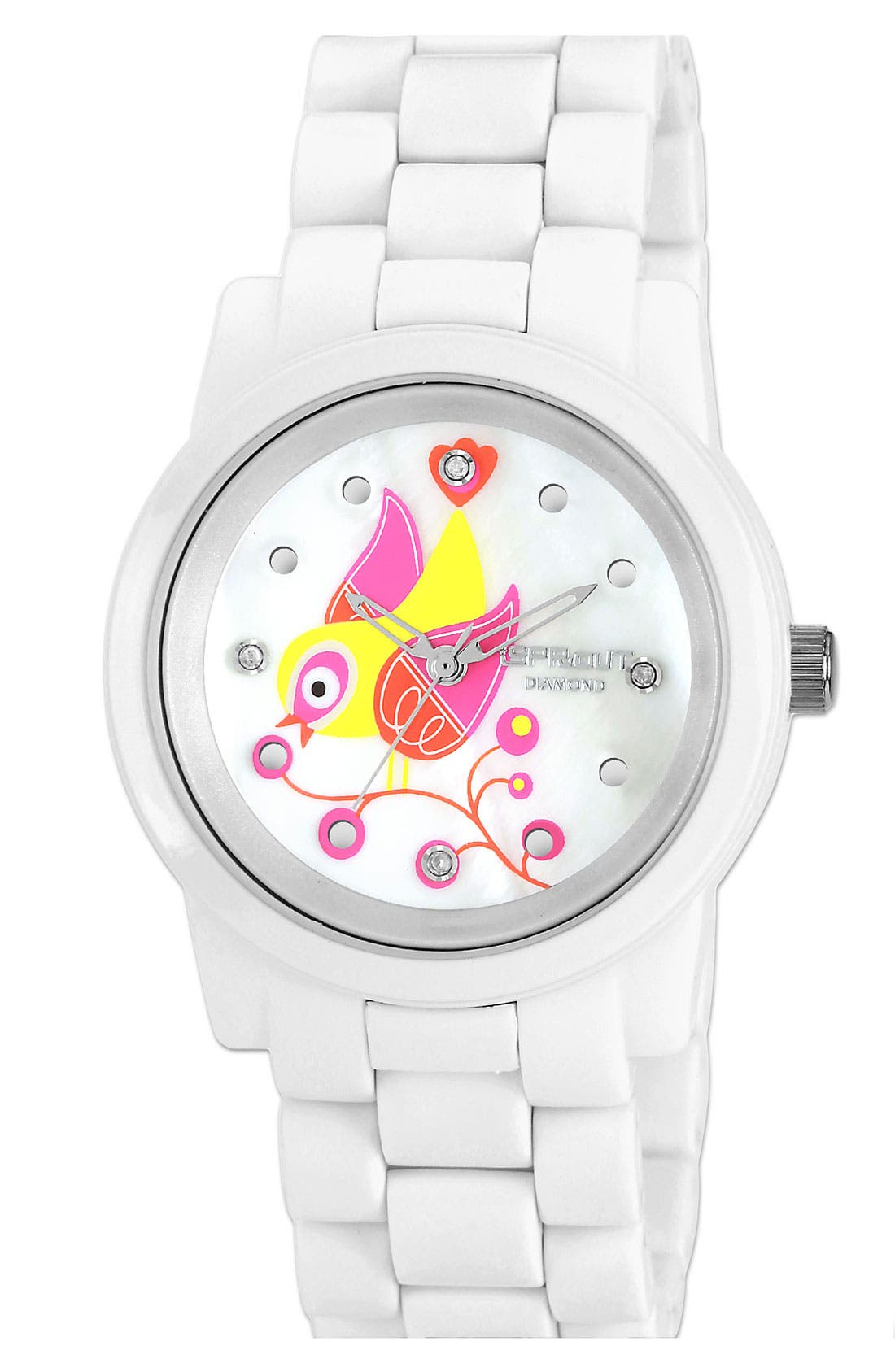 Main Image - SPROUT™ Watches Bird Dial Bracelet Watch, 38mm