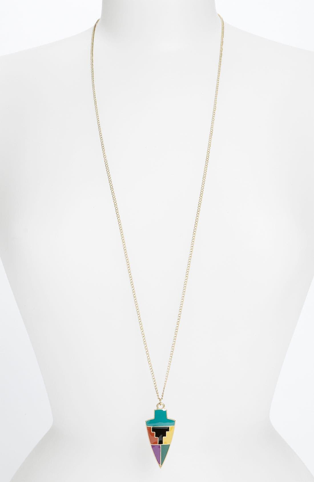 Main Image - Carole Enamel Arrow Pendant Necklace