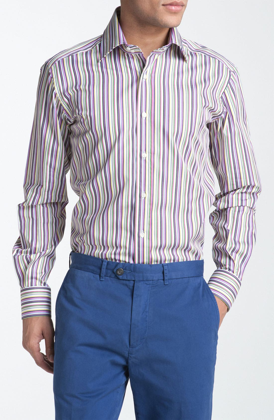 Main Image - Etro Stripe Woven Dress Shirt