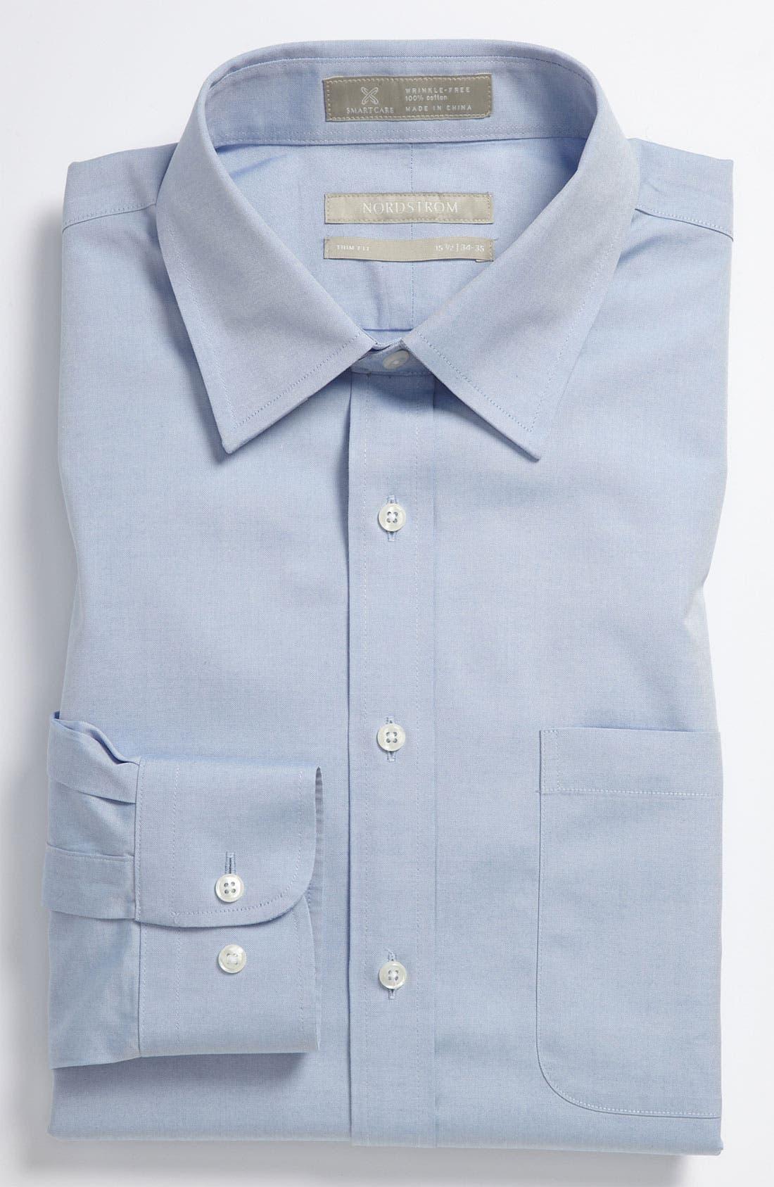 Nordstrom Men's Shop Smartcare™ Trim Fit Solid Dress Shirt