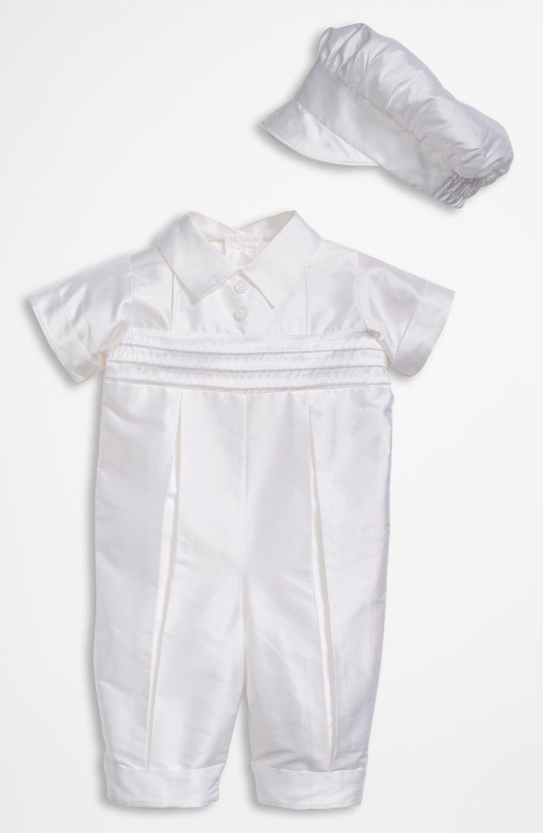 Dupioni Romper,                         Main,                         color, White