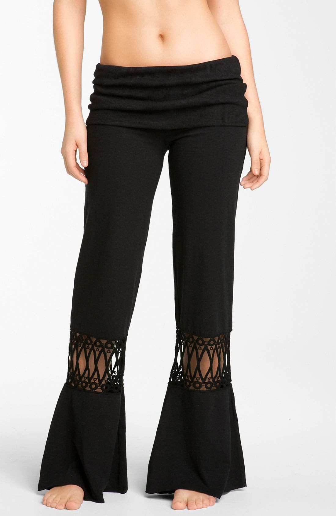 Main Image - prAna 'Malibu' Crochet Detail Knit Pants