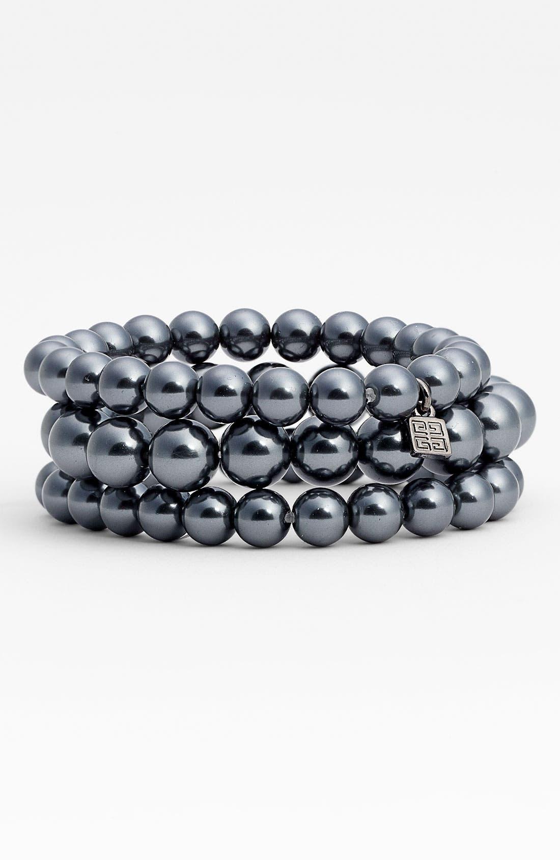 Main Image - Givenchy Glass Pearl Stretch Bracelets (Set of 3)