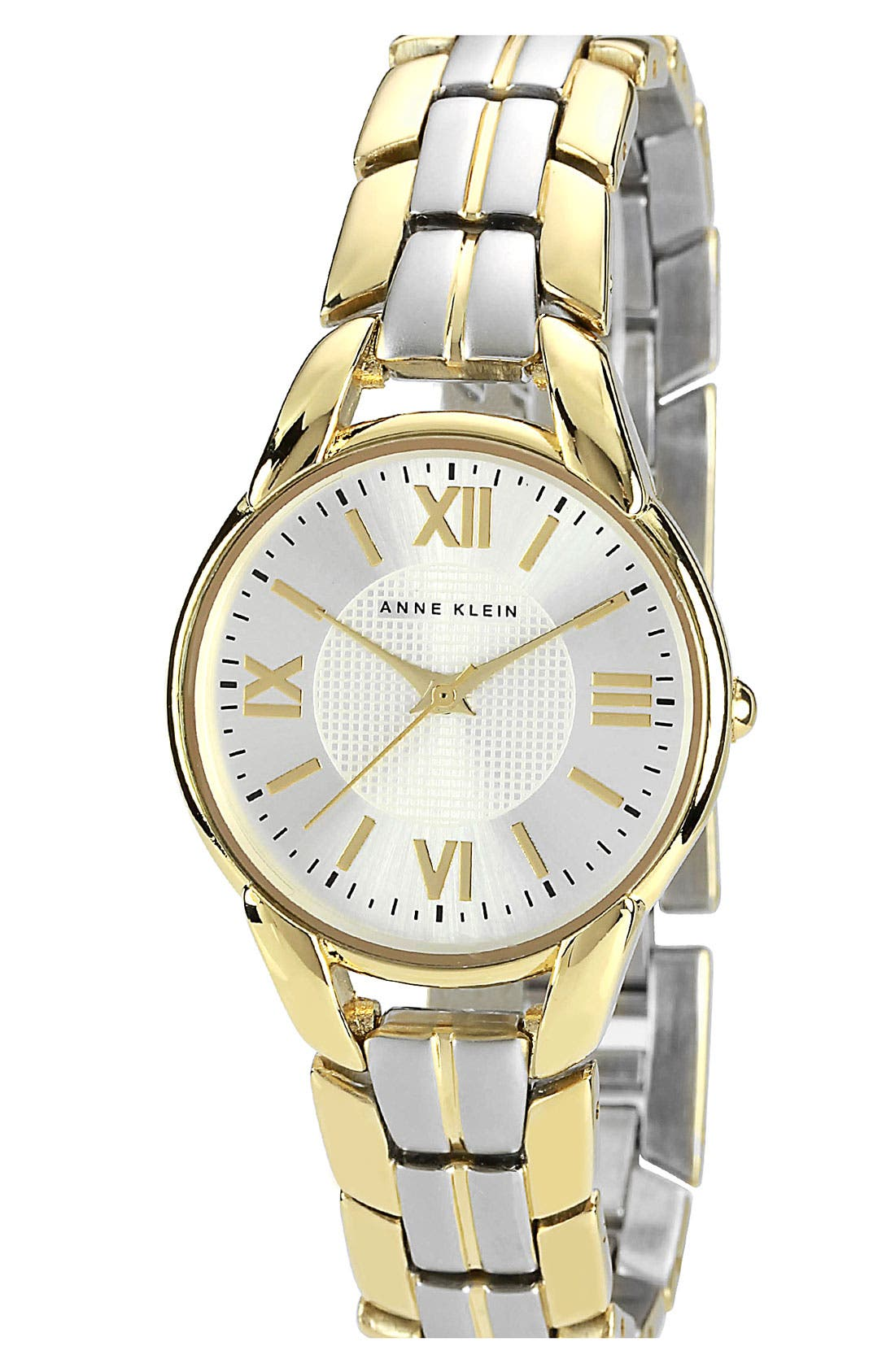 Main Image - Anne Klein Two Tone Bracelet Watch, 30mm