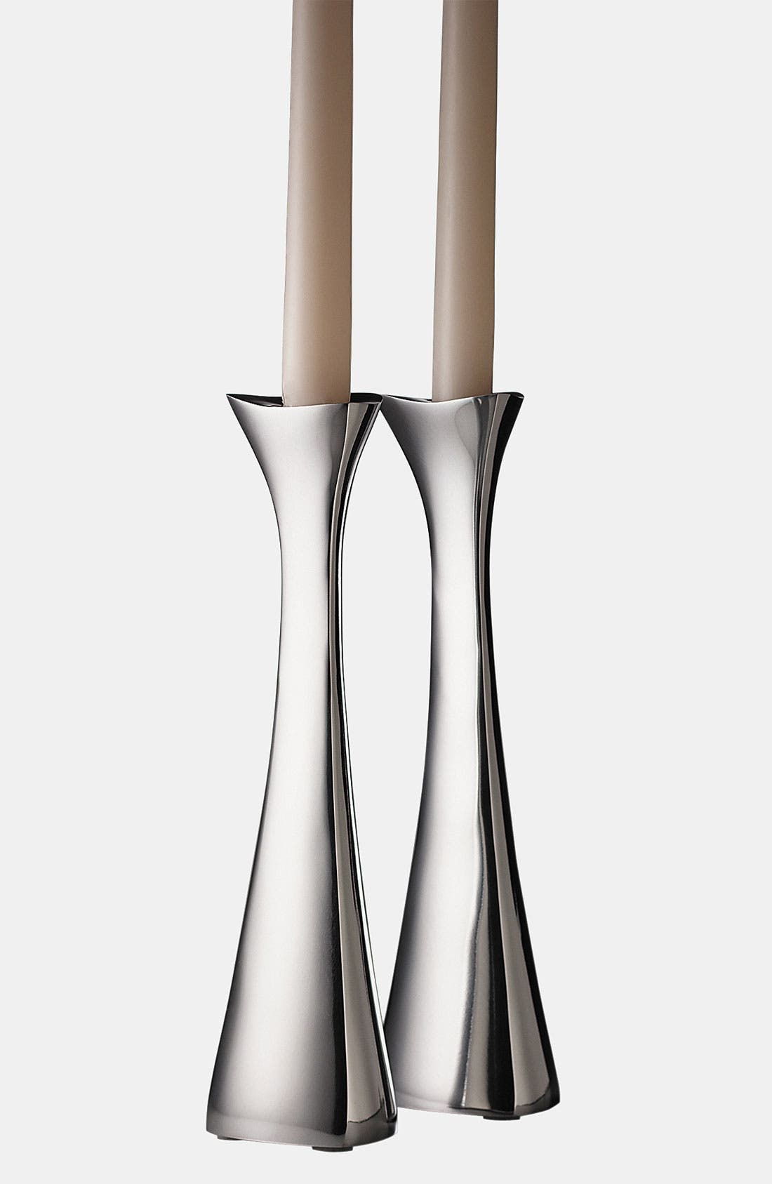 Main Image - Nambé 'Tri-Corner' Candlestick (Set of 2)