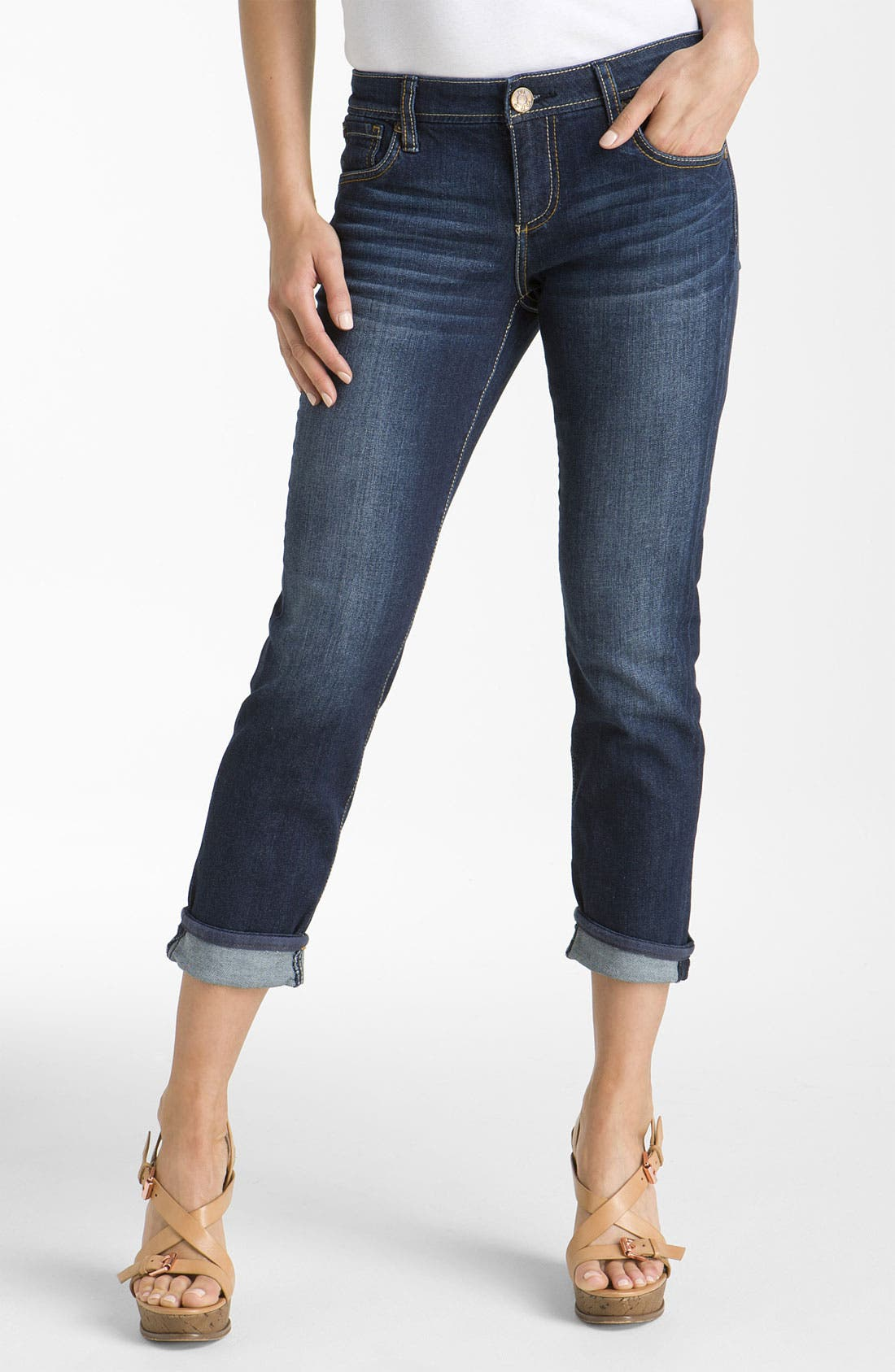 Alternate Image 1 Selected - KUT from the Kloth 'Catherine' Slim Boyfriend Jeans (Gratitude Wash)
