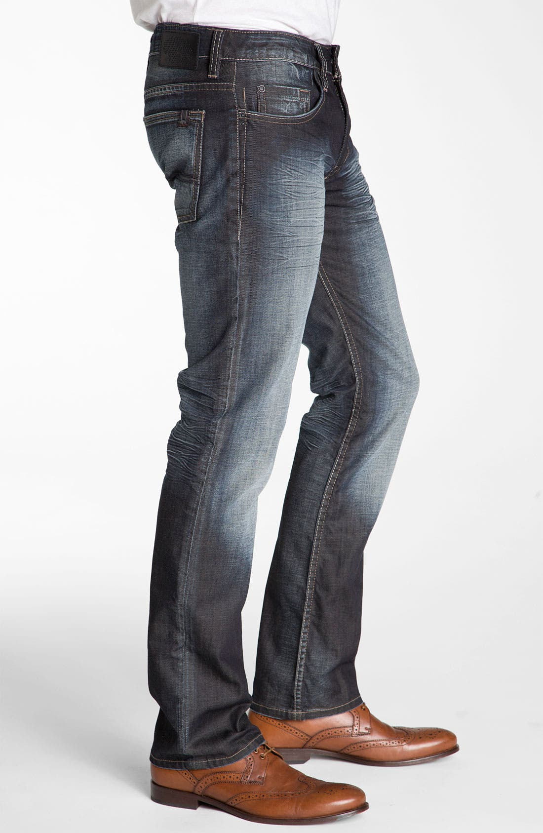 Alternate Image 3  - Buffalo Jeans 'Six' Slim Straight Leg Jeans (Vintage Stone)