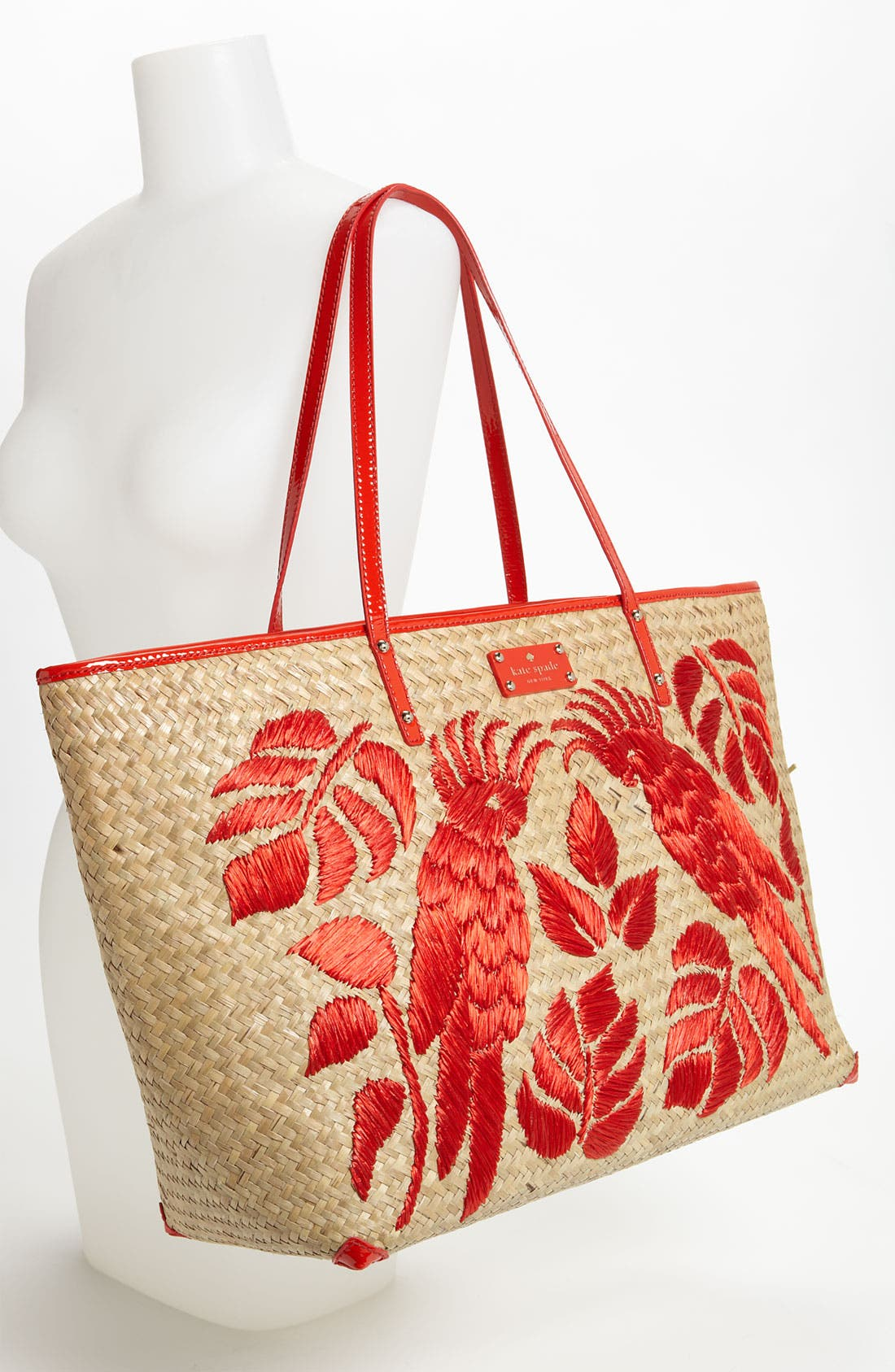 Alternate Image 2  - kate spade new york 'harmony' embroidered straw tote