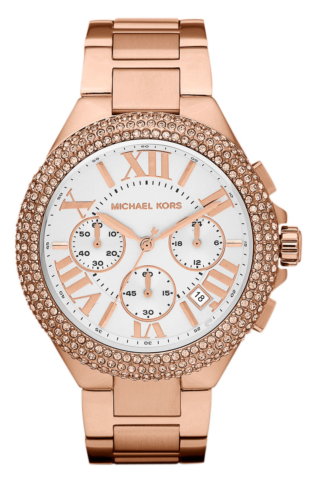 Alternate Image 1 Selected - Michael Kors 'Camille' Chronograph Bracelet Watch, 43mm