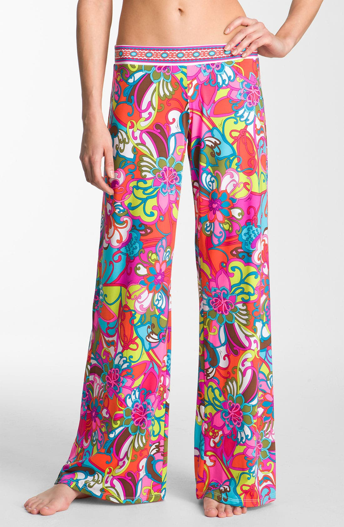 Alternate Image 1 Selected - Trina Turk 'Fiji Flowers' Cover-Up Pants