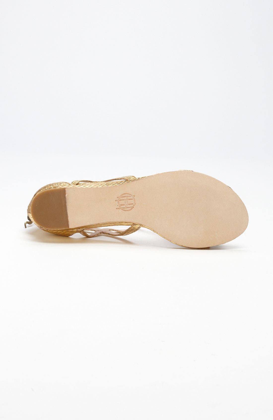'Casmine' Sandal,                             Alternate thumbnail 4, color,                             Antique Gold