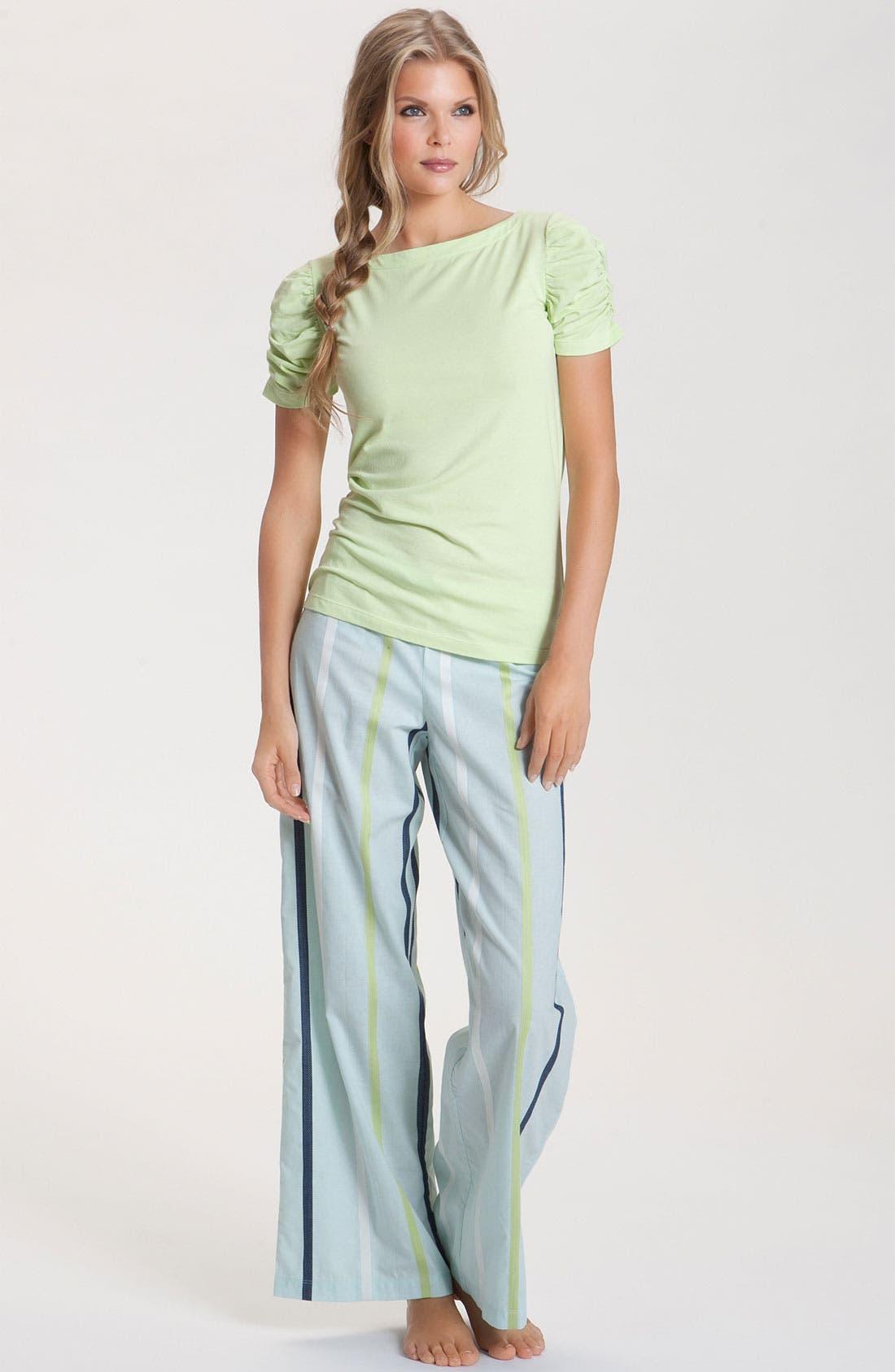 Alternate Image 4  - Hue 'Dobby Stripe' Lounge Pants