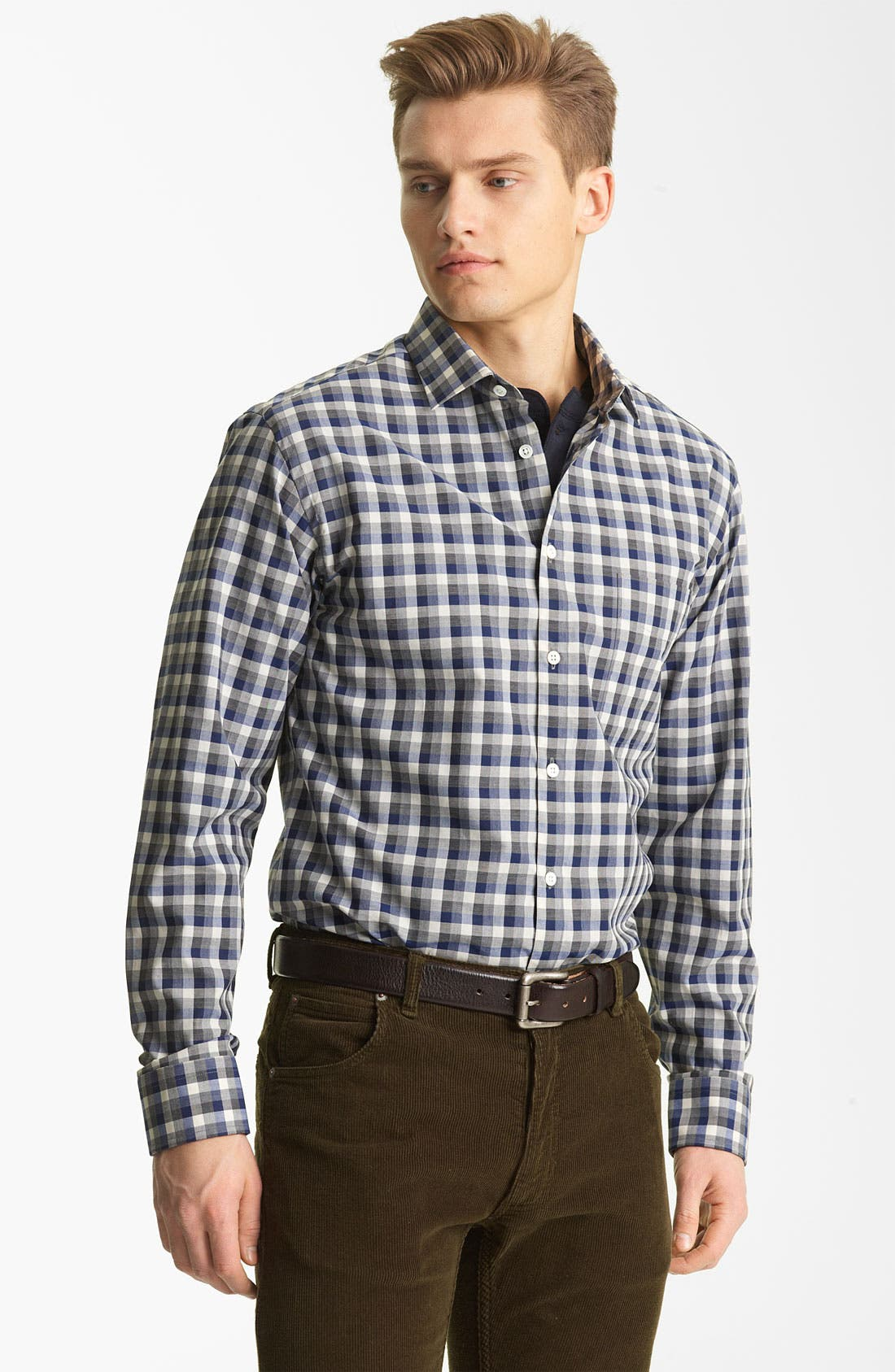 Main Image - Billy Reid 'John T' Check Woven Shirt