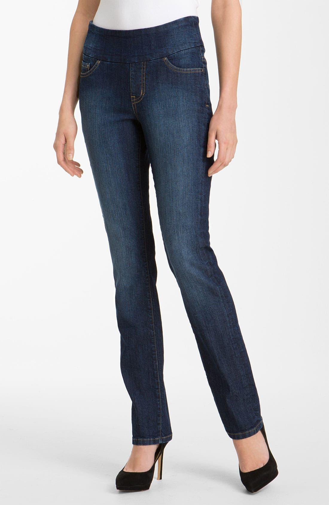 Alternate Image 1 Selected - Jag Jeans 'Peri' Pull-On Jeans (Petite)
