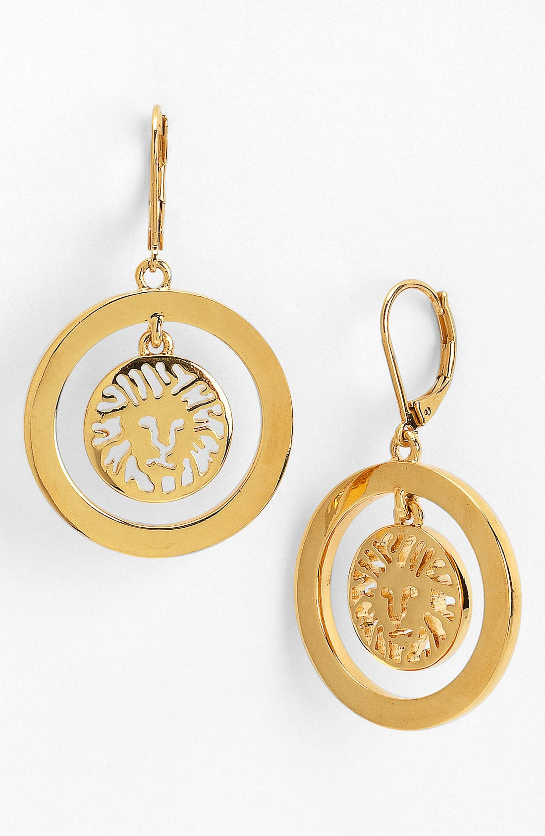 Main Image - Anne Klein Lion Detail Drop Earrings