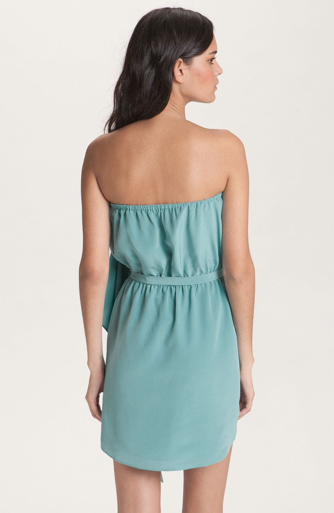 Alternate Image 2  - Haute Hippie Strapless Silk Ruffle Dress
