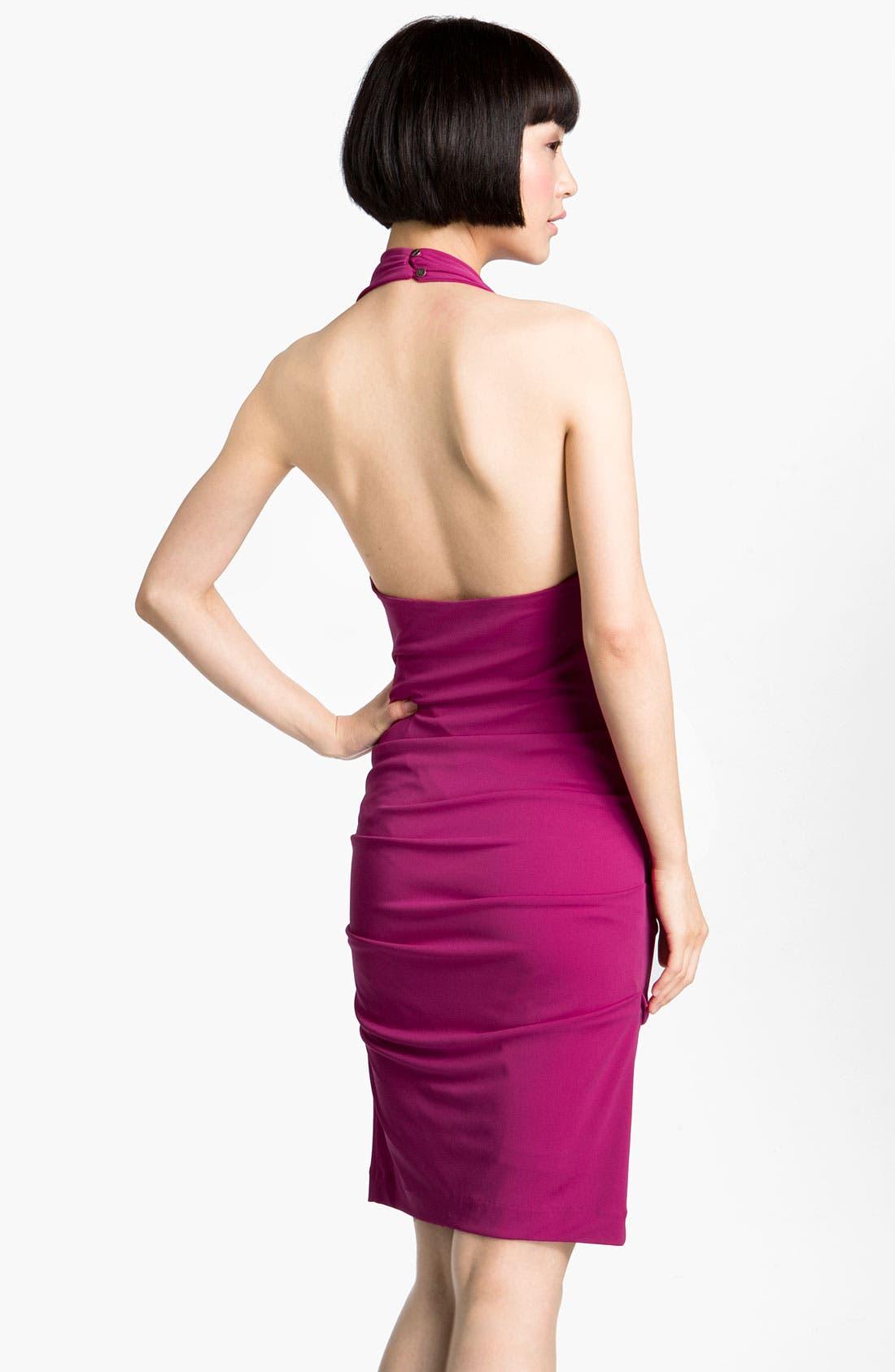 Alternate Image 2  - Nicole Miller Drape Front Jersey Halter Dress
