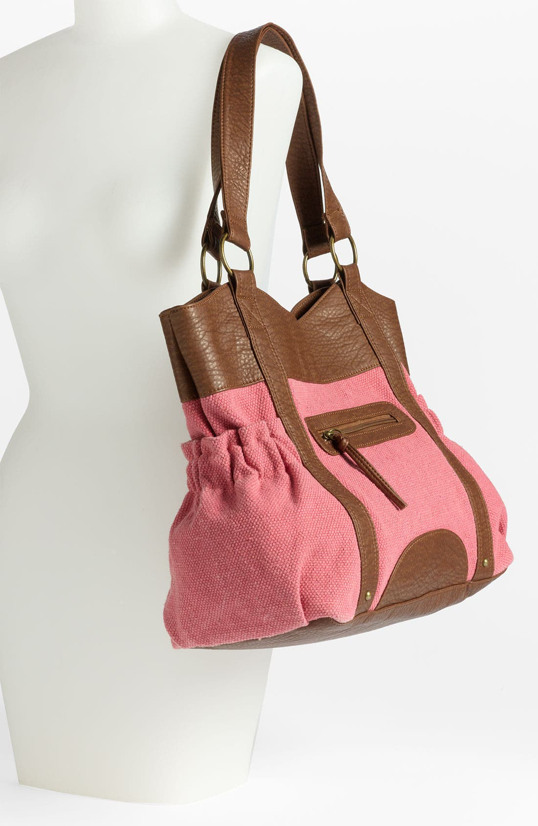 Alternate Image 2  - T-Shirt & Jeans Canvas & Faux Leather Tote