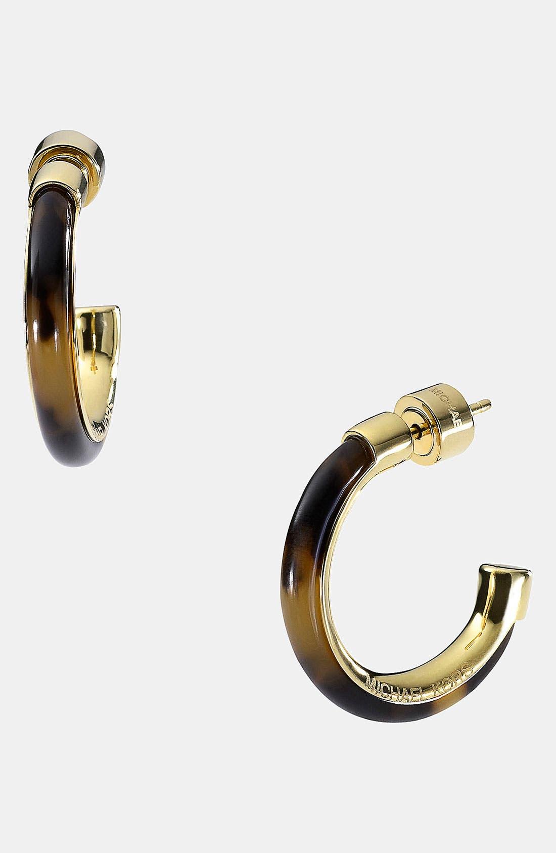 Alternate Image 1 Selected - Michael Kors 'Heritage - Small' Hoop Earrings