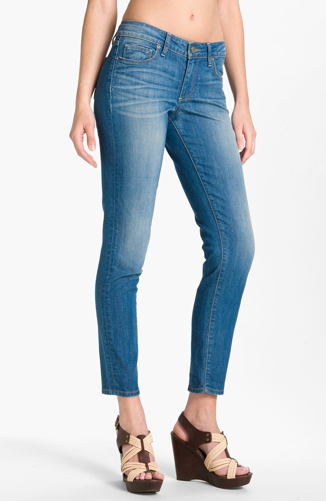 Main Image - Paige Denim 'Skyline - Ankle Peg' Skinny Stretch Jeans (Siren)