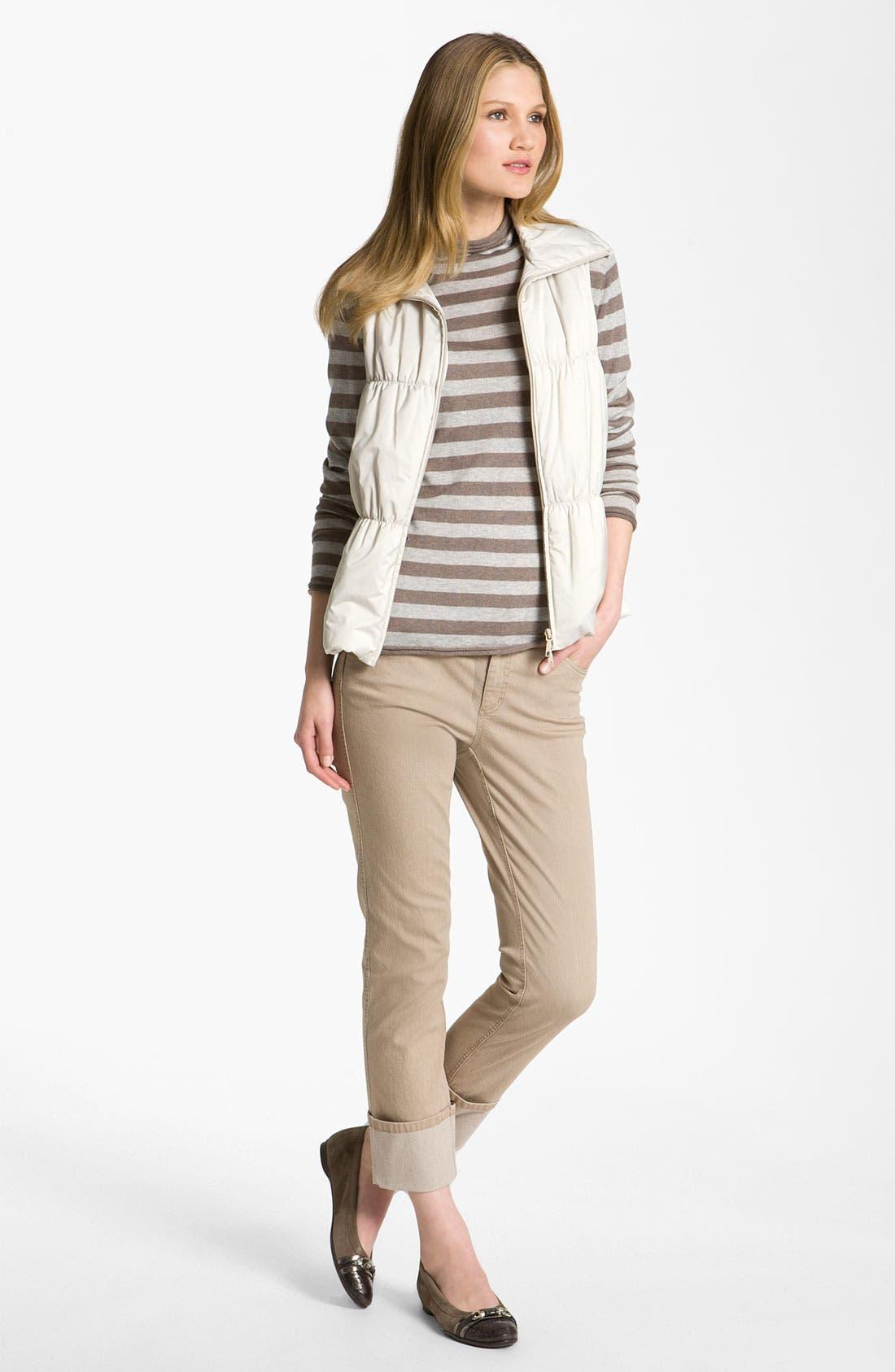 Alternate Image 4  - Lafayette 148 New York Cuff Crop Jeans