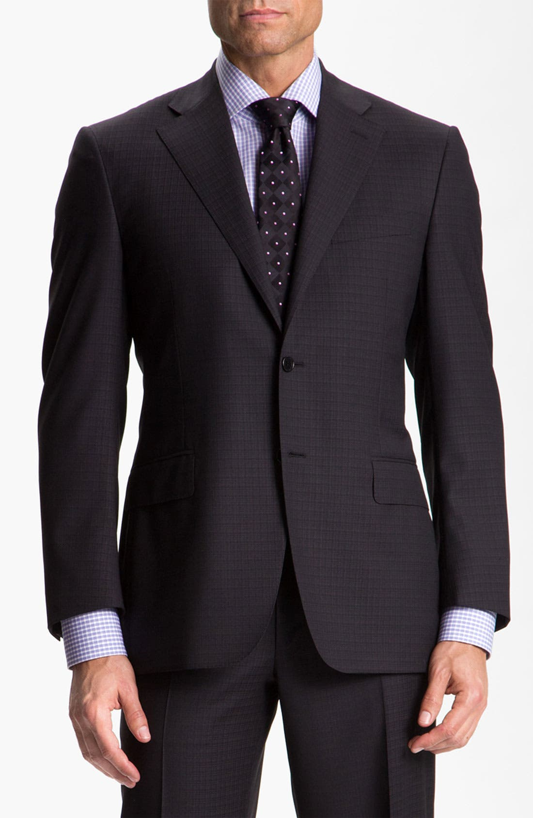 Alternate Image 1 Selected - Canali Windowpane Wool Suit