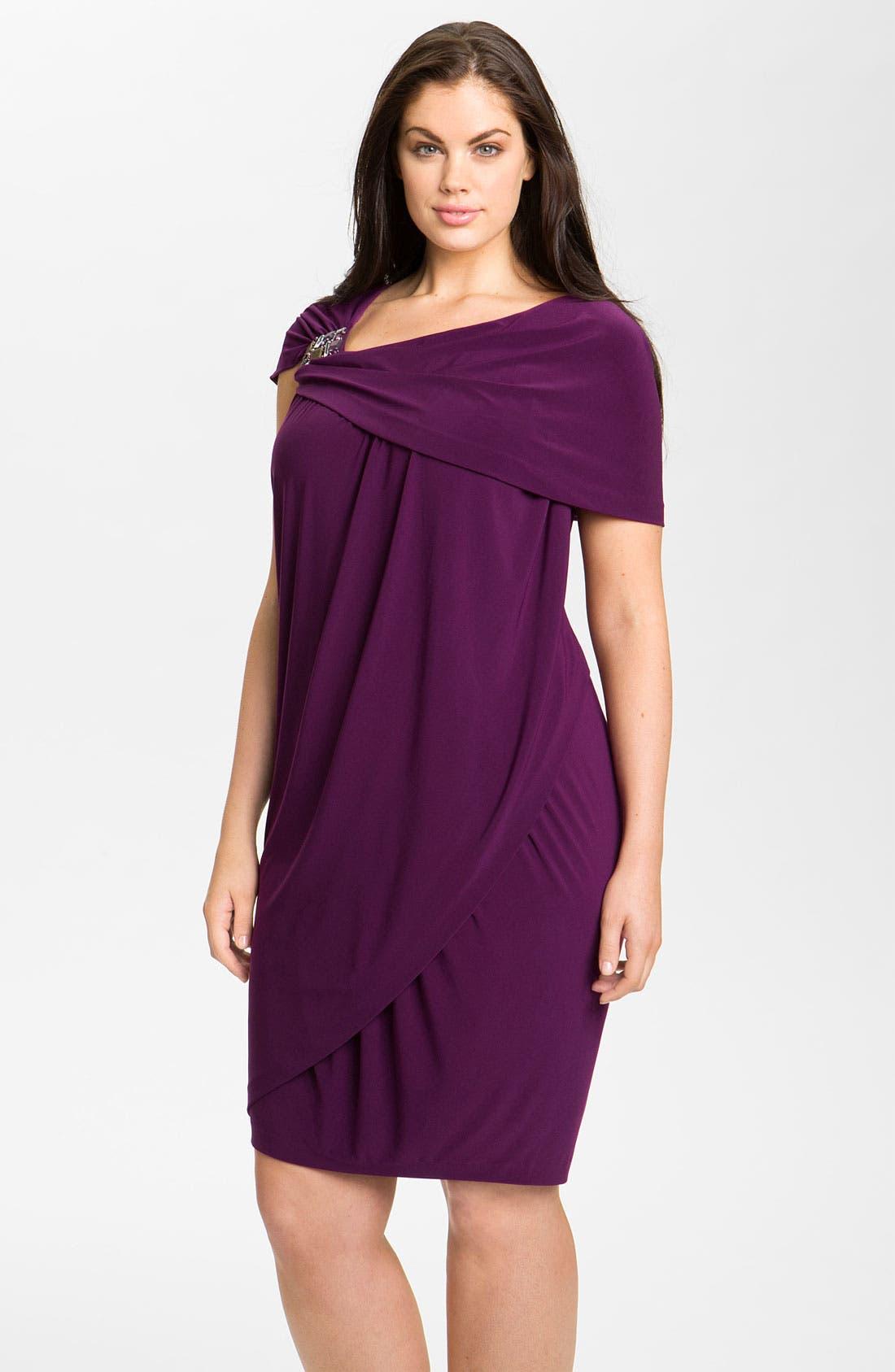 Main Image - Alex & Eve Beaded Jersey Dress (Plus Size)