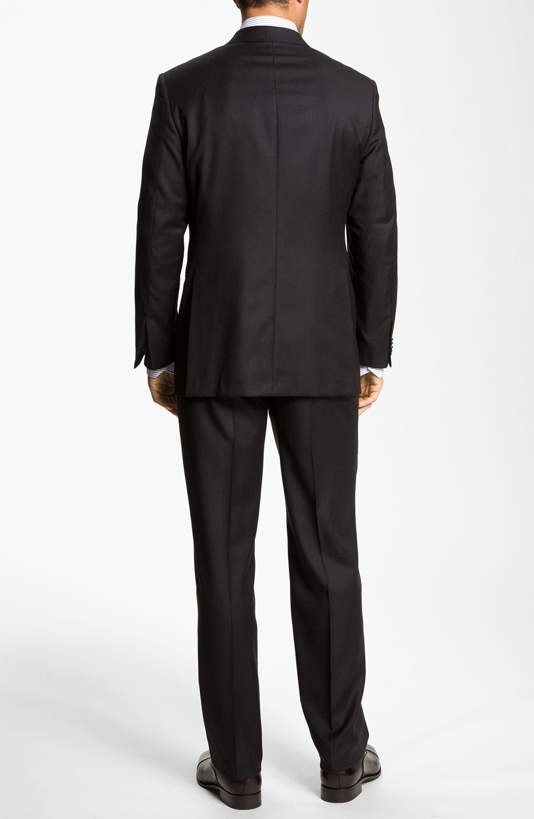 Alternate Image 3  - Hickey Freeman Stripe Suit