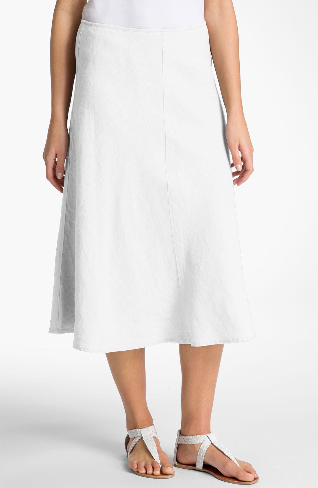 Alternate Image 1 Selected - Eileen Fisher Linen Skirt