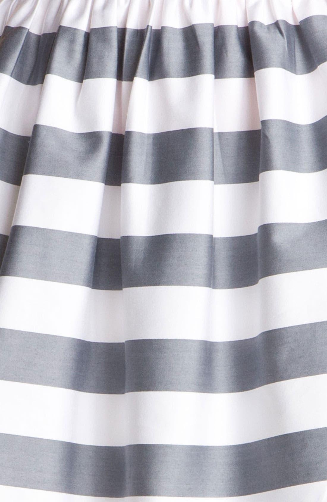 Sateen Full Skirt,                             Alternate thumbnail 3, color,                             White/ Grey