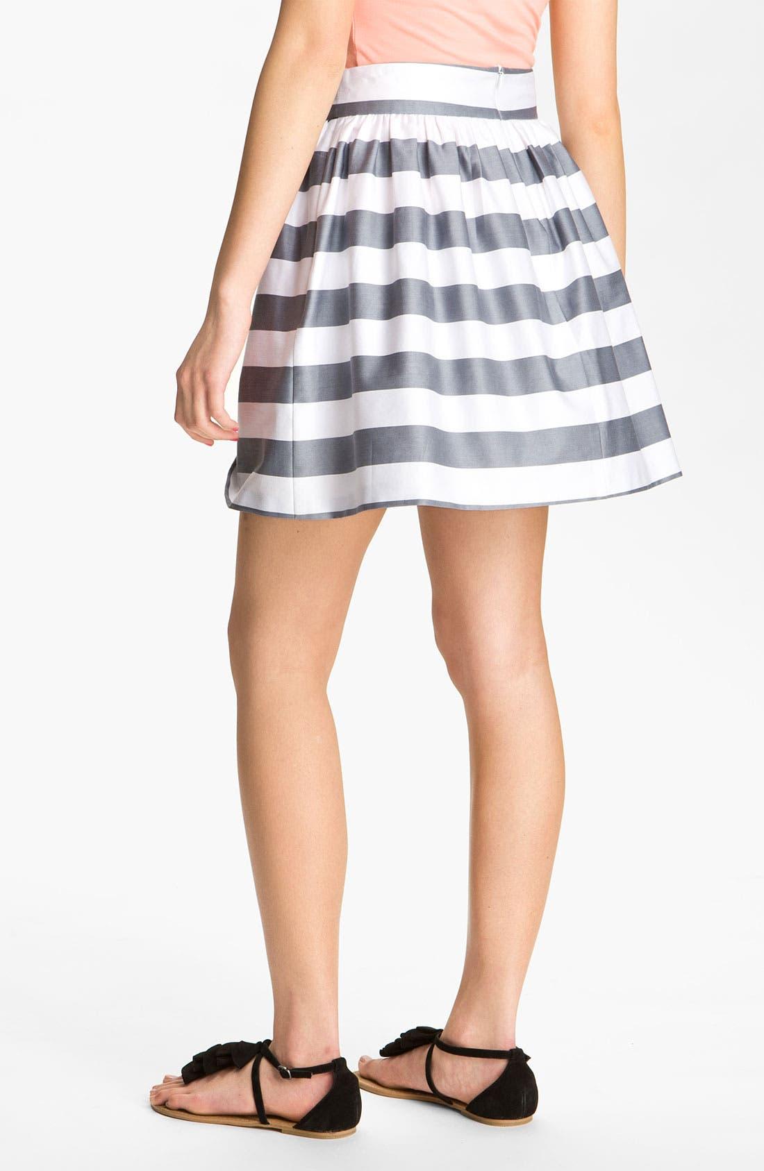 Sateen Full Skirt,                             Alternate thumbnail 2, color,                             White/ Grey
