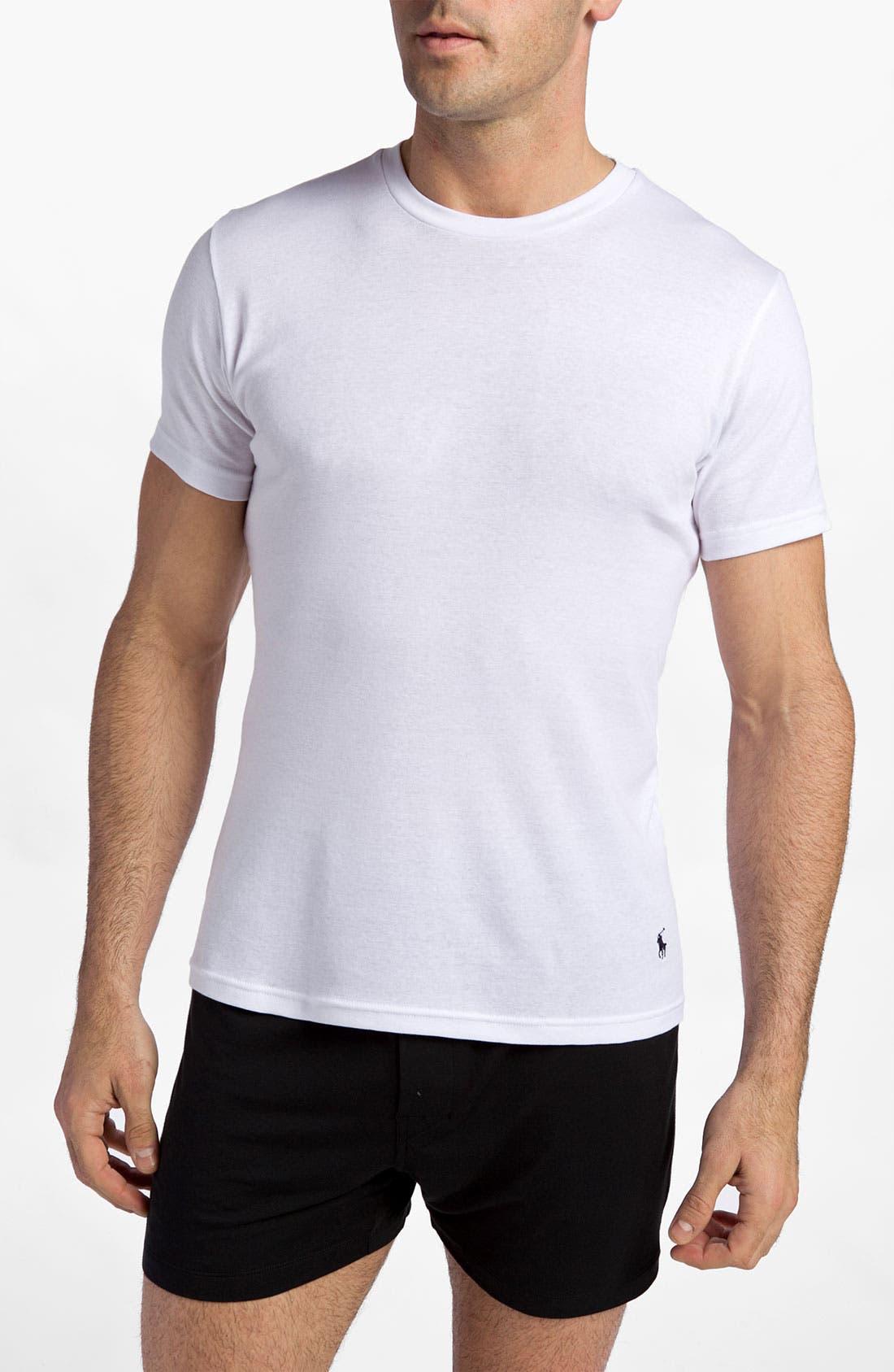 2-Pack Cotton Crewneck T-Shirt,                         Main,                         color, White