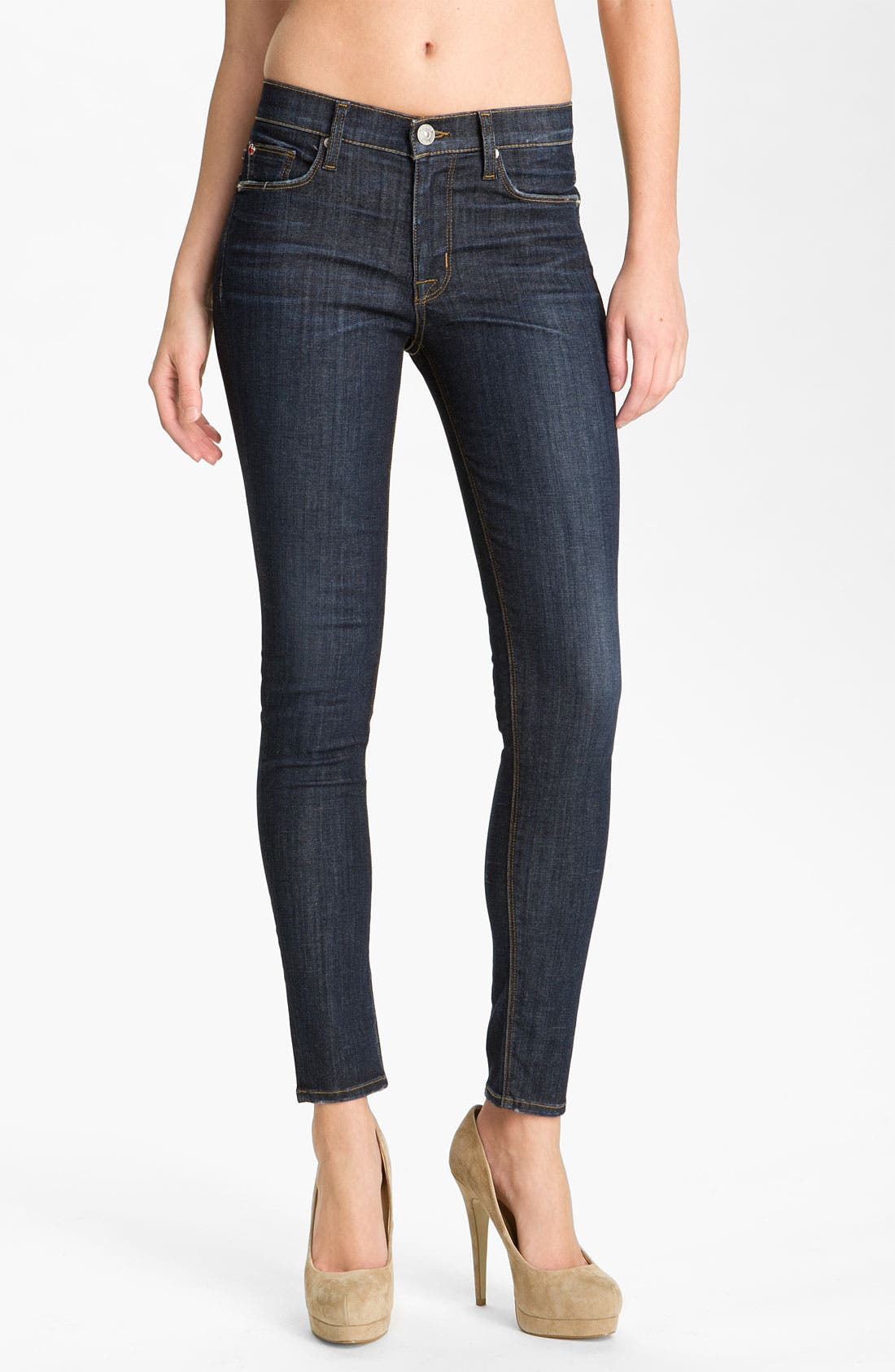 Alternate Image 1 Selected - Hudson Jeans 'Nico' Mid Rise Skinny Jeans (Abbey)
