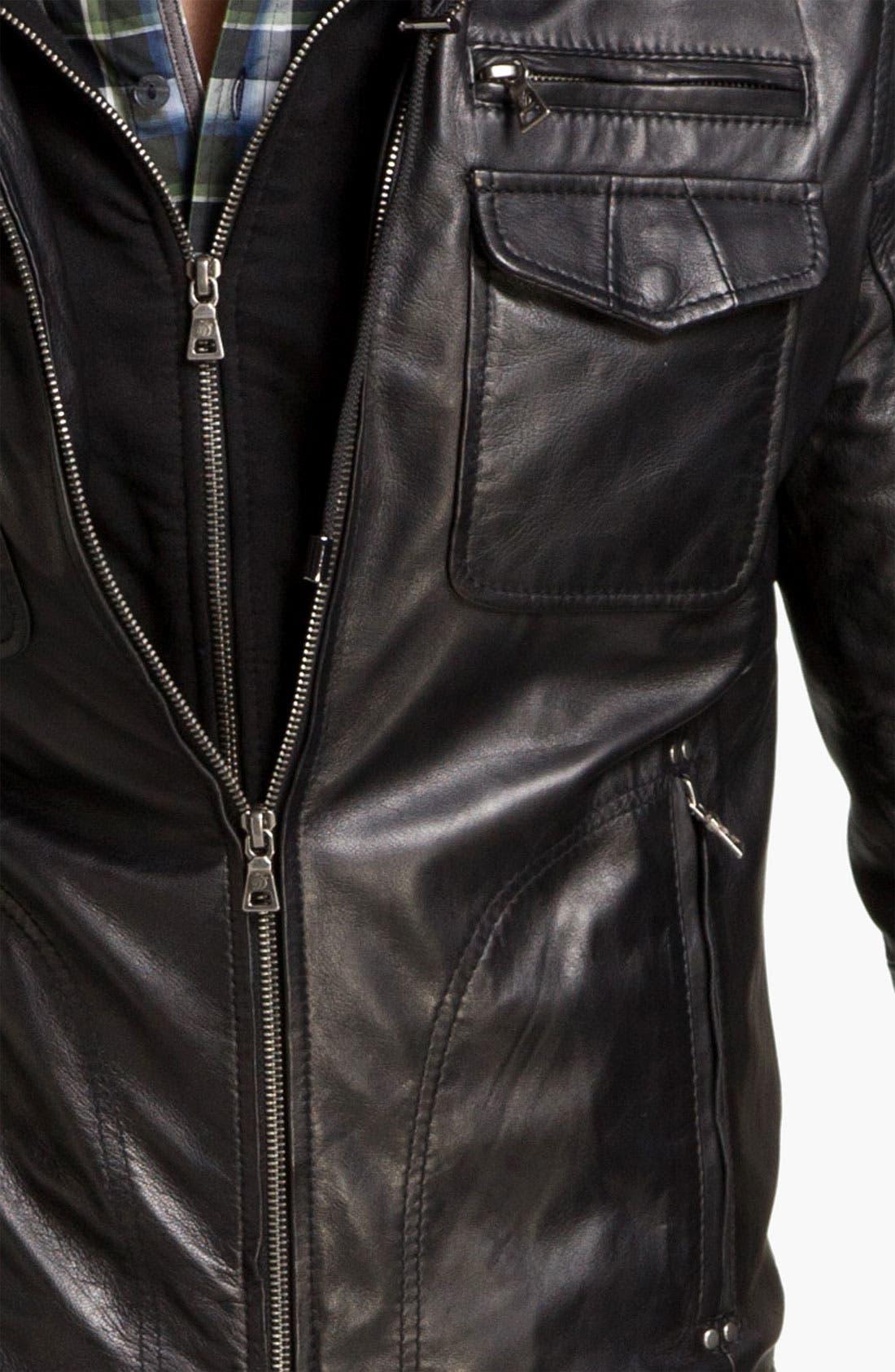 Alternate Image 5  - 7 Diamonds 'Manila' Trim Fit Leather Jacket