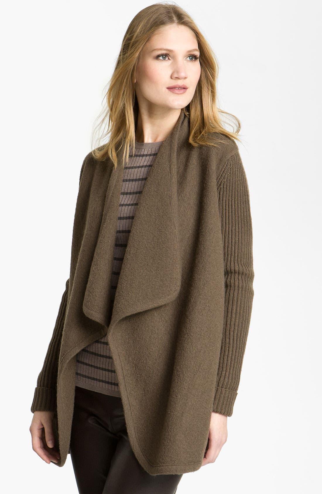 Alternate Image 1 Selected - Vince Draped Boiled Wool Jacket