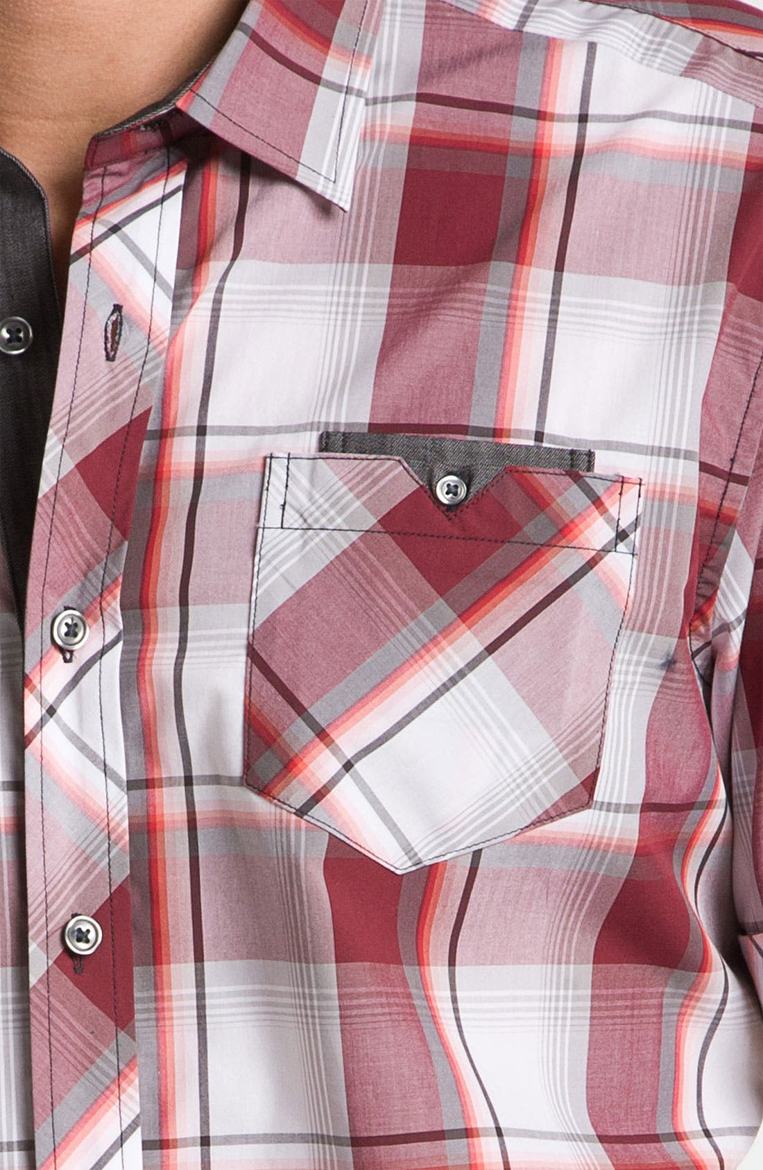 Alternate Image 3  - 7 Diamonds 'Up Above the Rock' Plaid Woven Short Sleeve Shirt