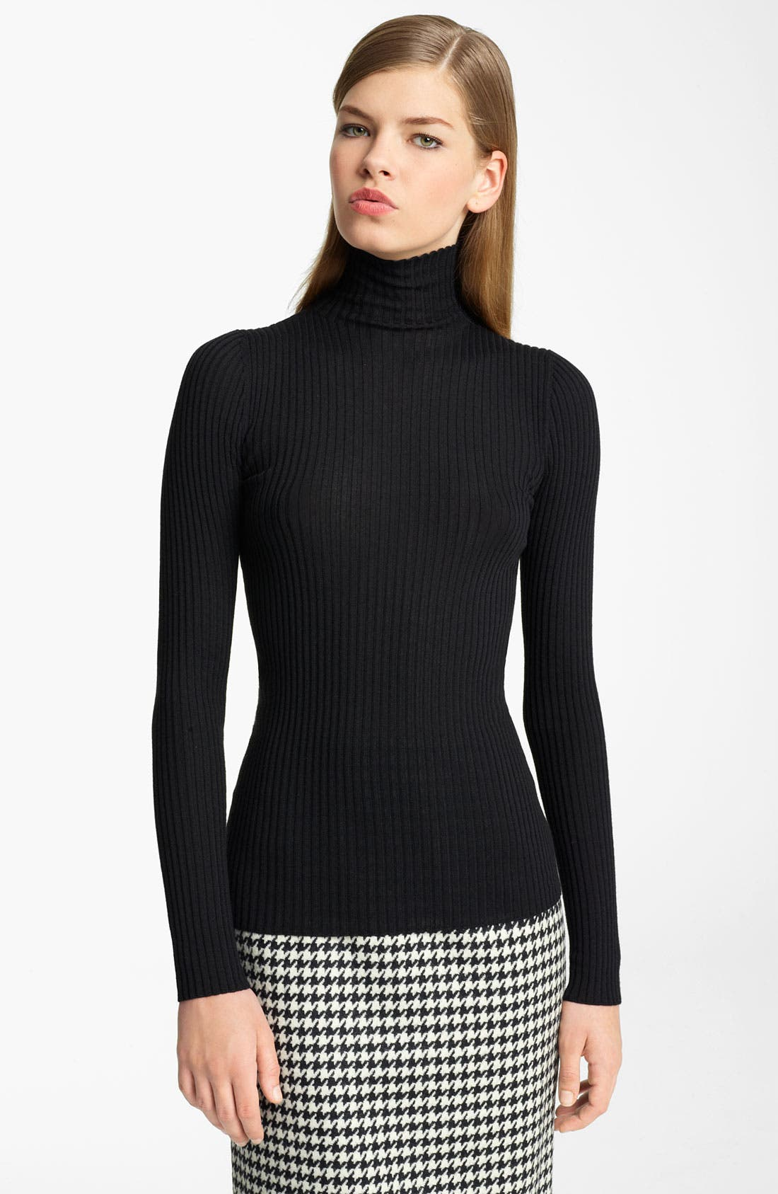 Cashmere & Silk Turtleneck,                         Main,                         color, Black