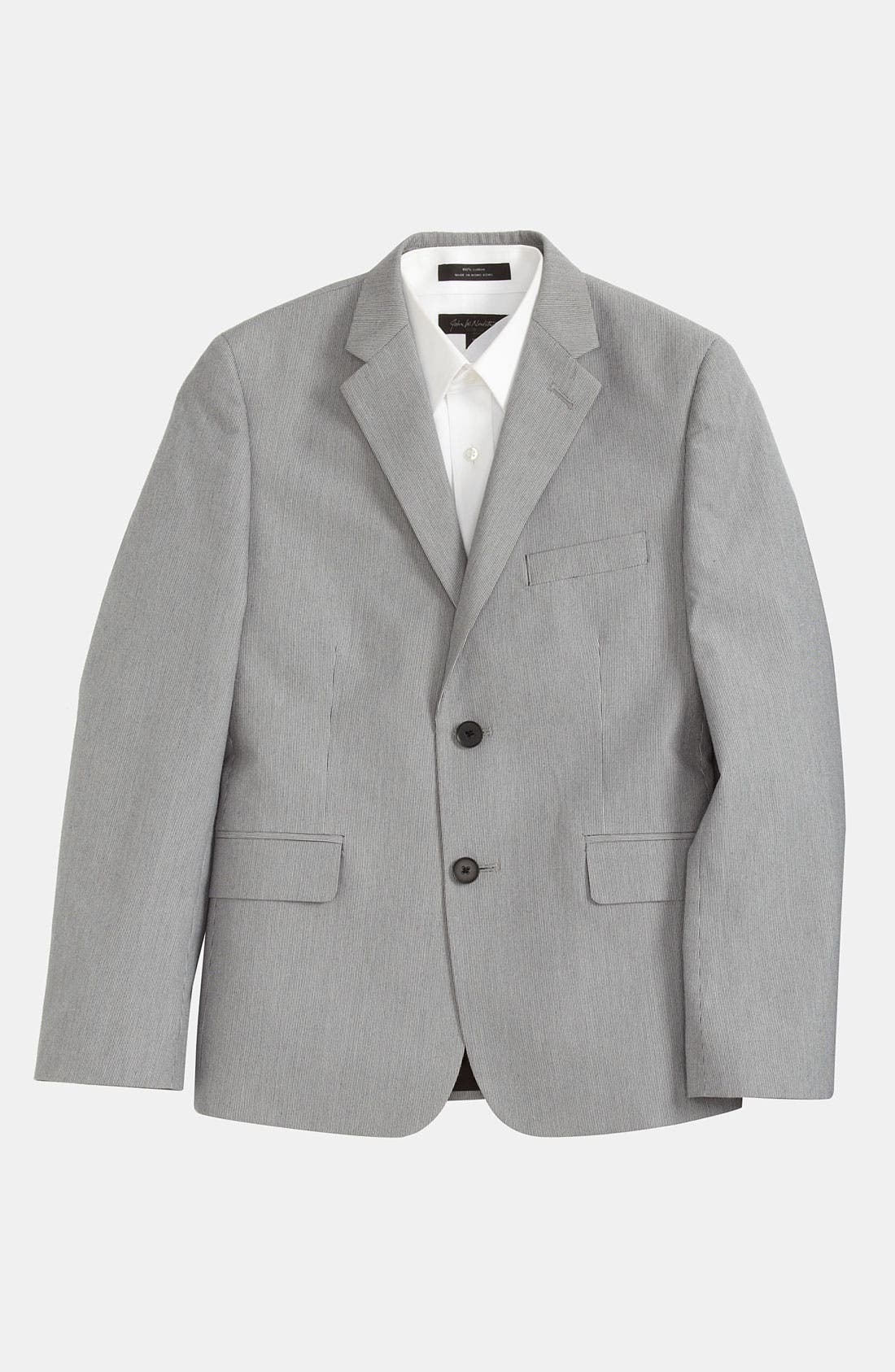 Main Image - C2 By Calibrate Corded Stripe Suit Jacket (Big Boys)