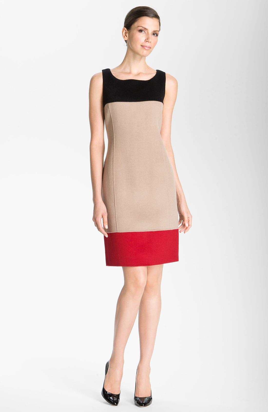 Main Image - St. John Collection Colorblock Sheath Dress