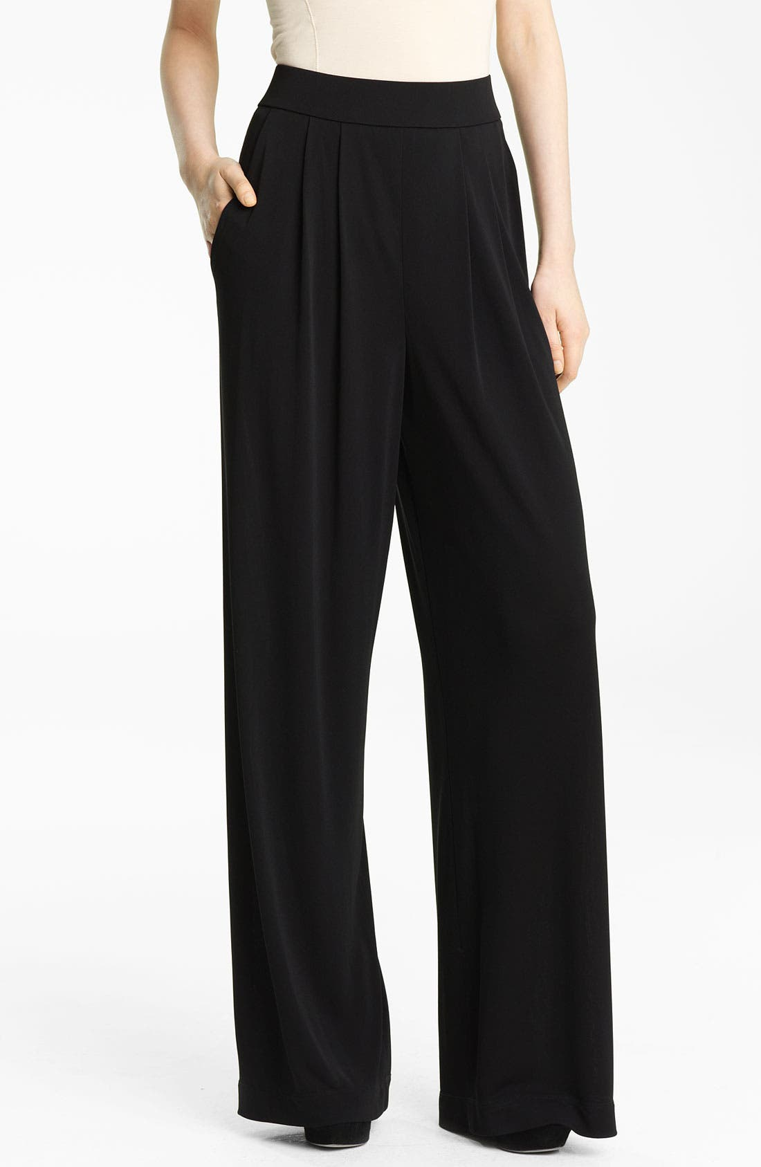 Alternate Image 1 Selected - Lida Baday Pleated Matte Jersey Pants