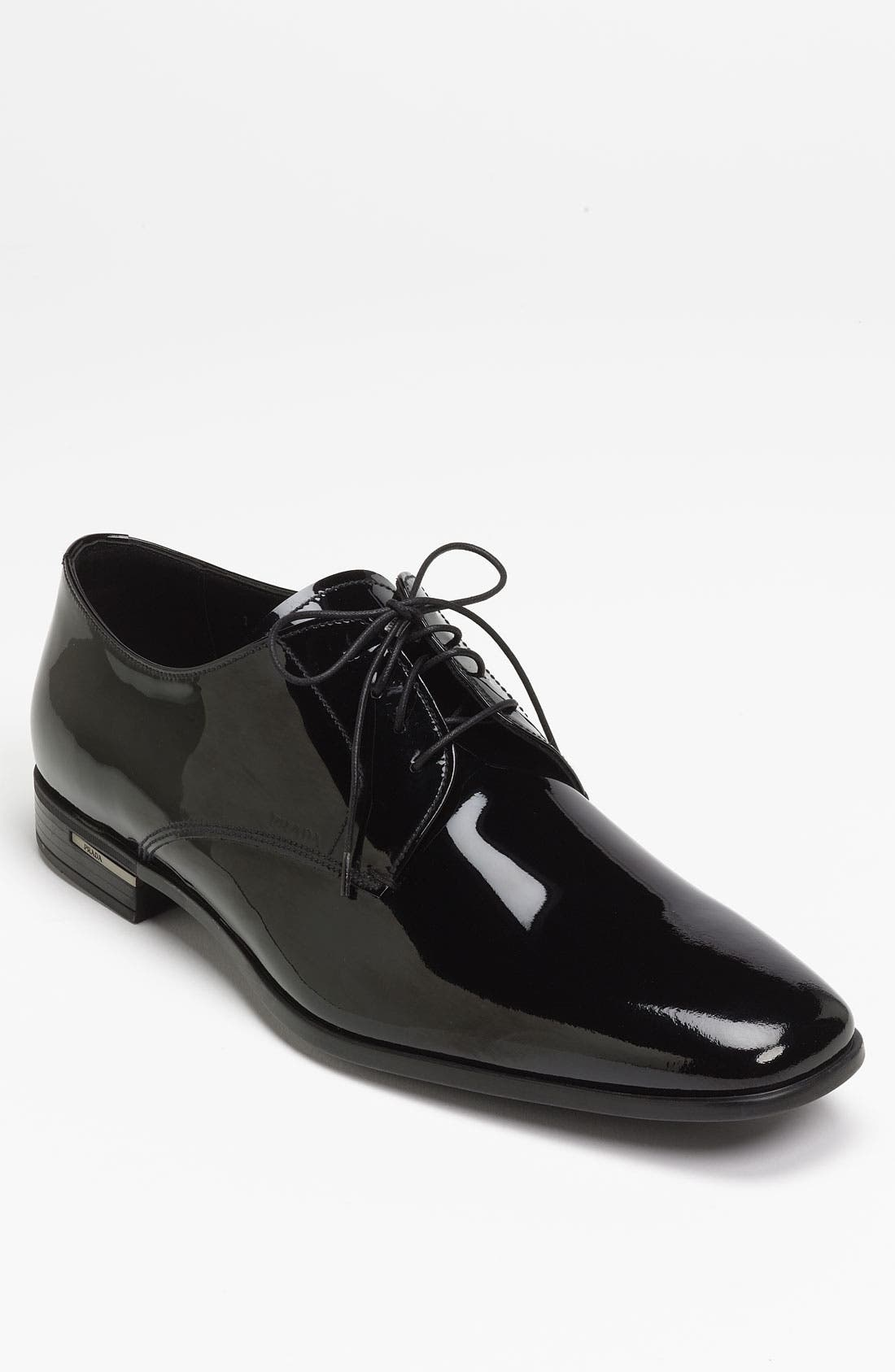 Alternate Image 1 Selected - Prada Plain Toe Patent Derby