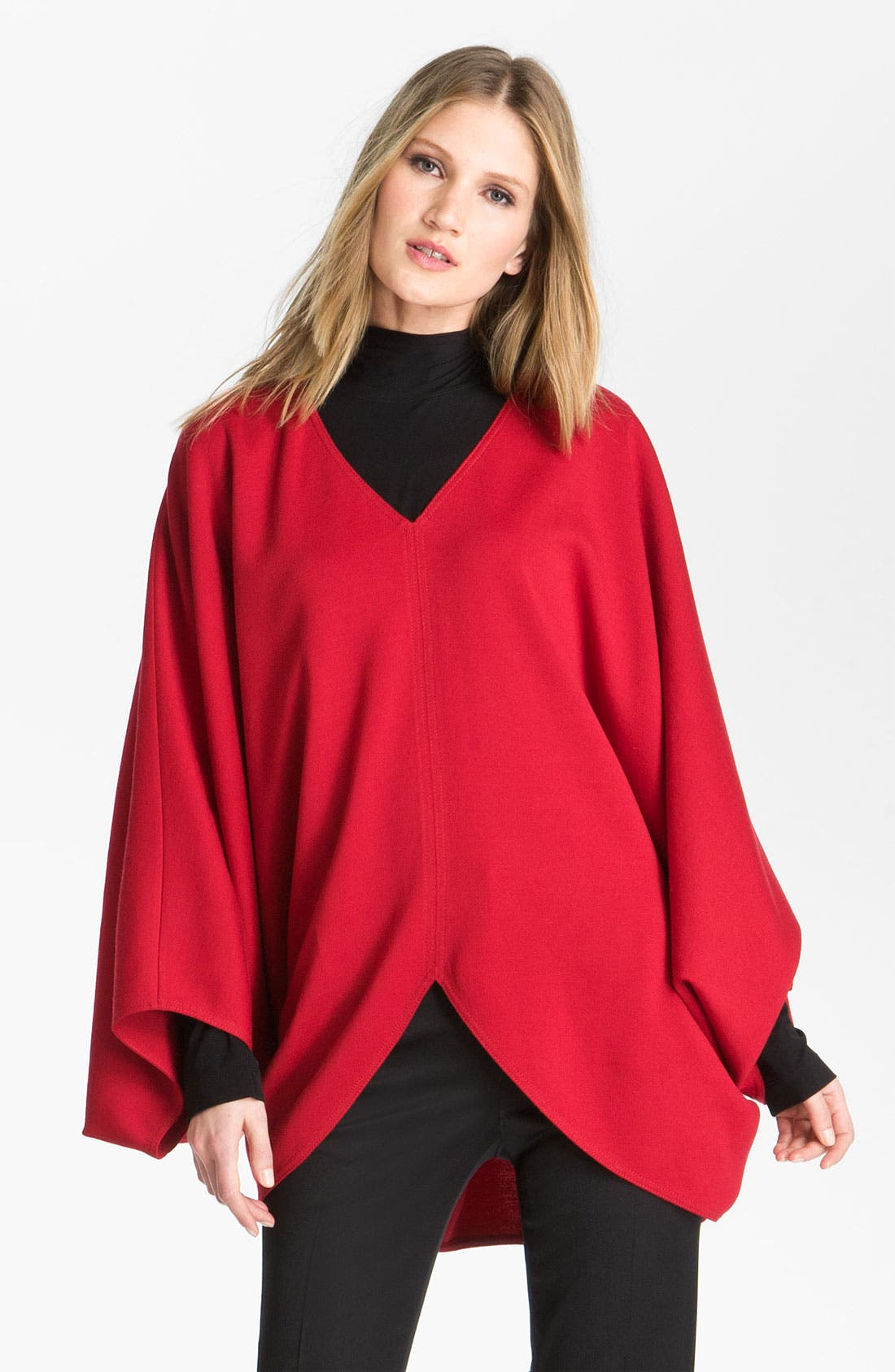 Alternate Image 2  - St. John Collection V-Neck Milano Knit Poncho