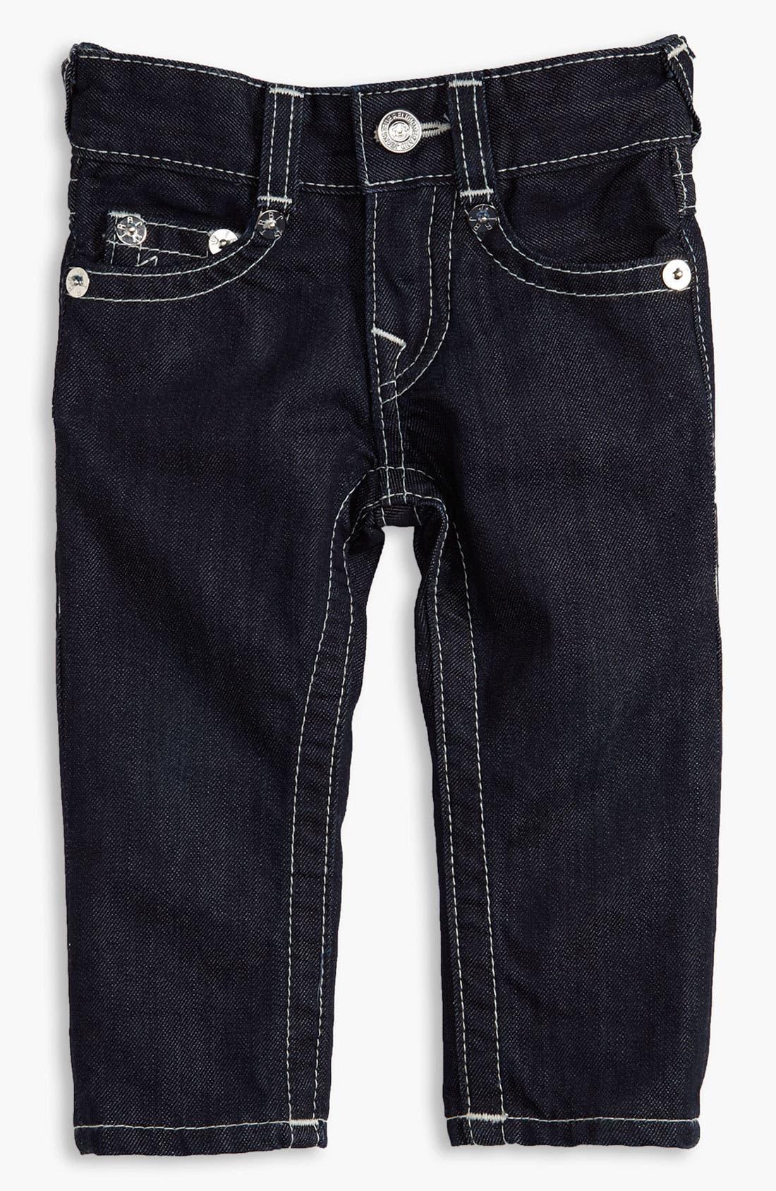 Alternate Image 2  - True Religion Brand Jeans Straight Leg Jeans (Infant)