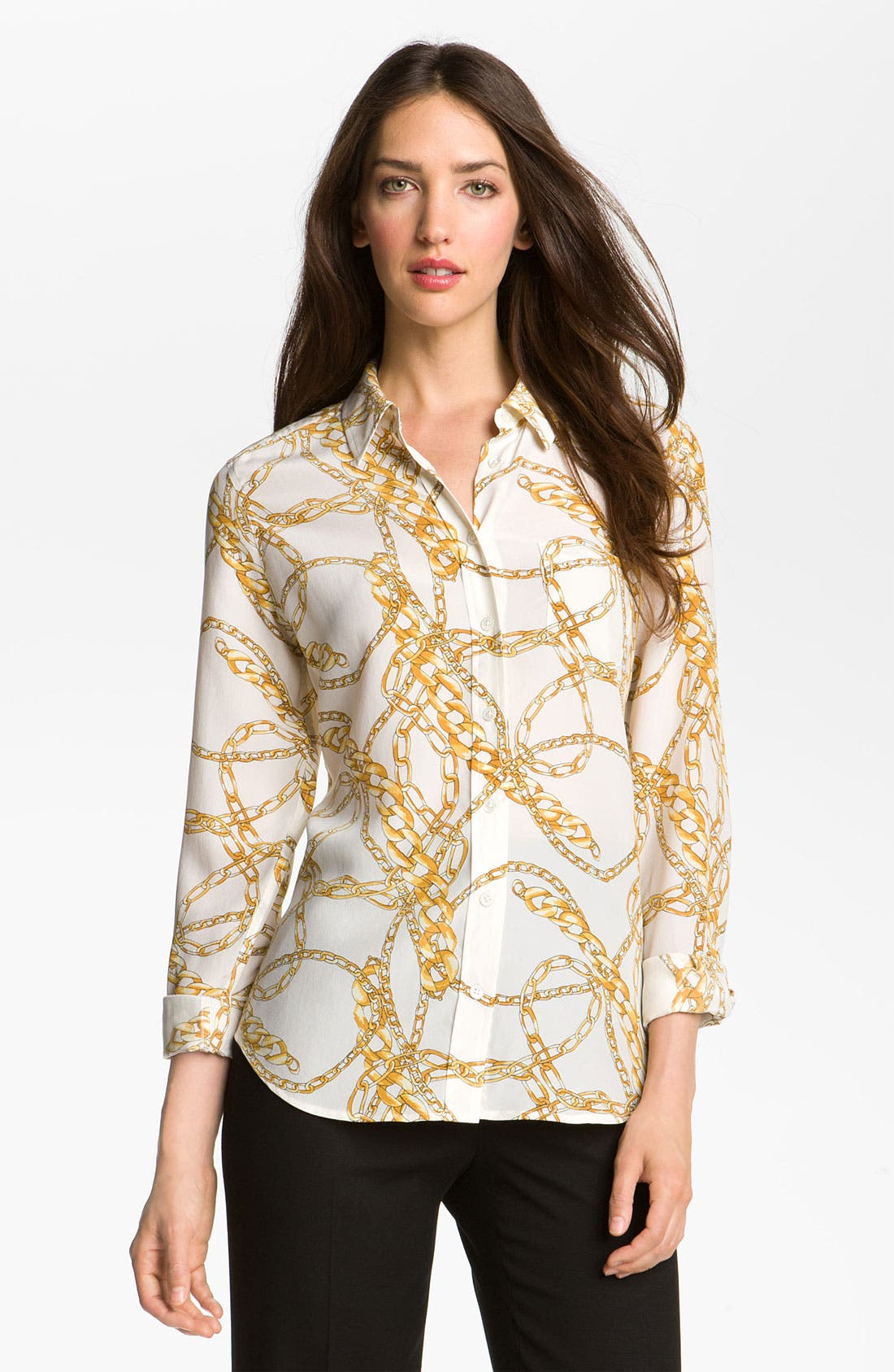 Alternate Image 1 Selected - Equipment 'Brett' Scarf Print Silk Blouse