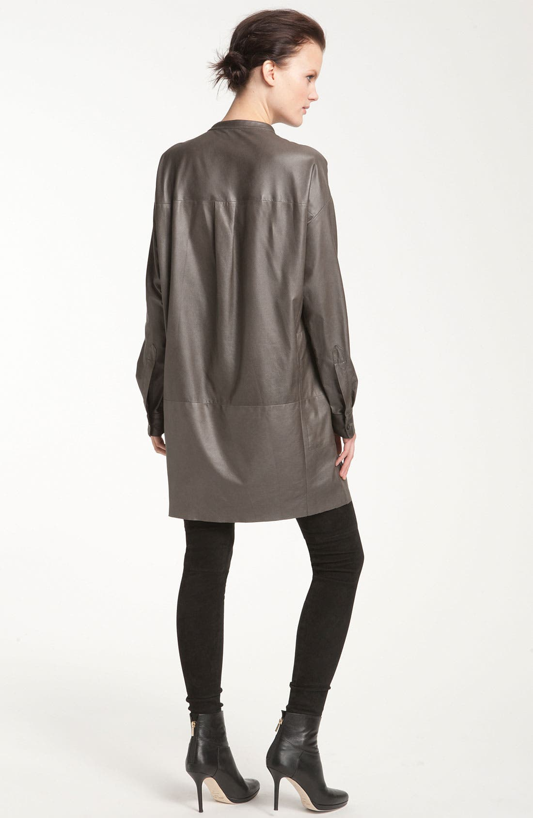 Alternate Image 2  - Vince Leather Tunic Dress